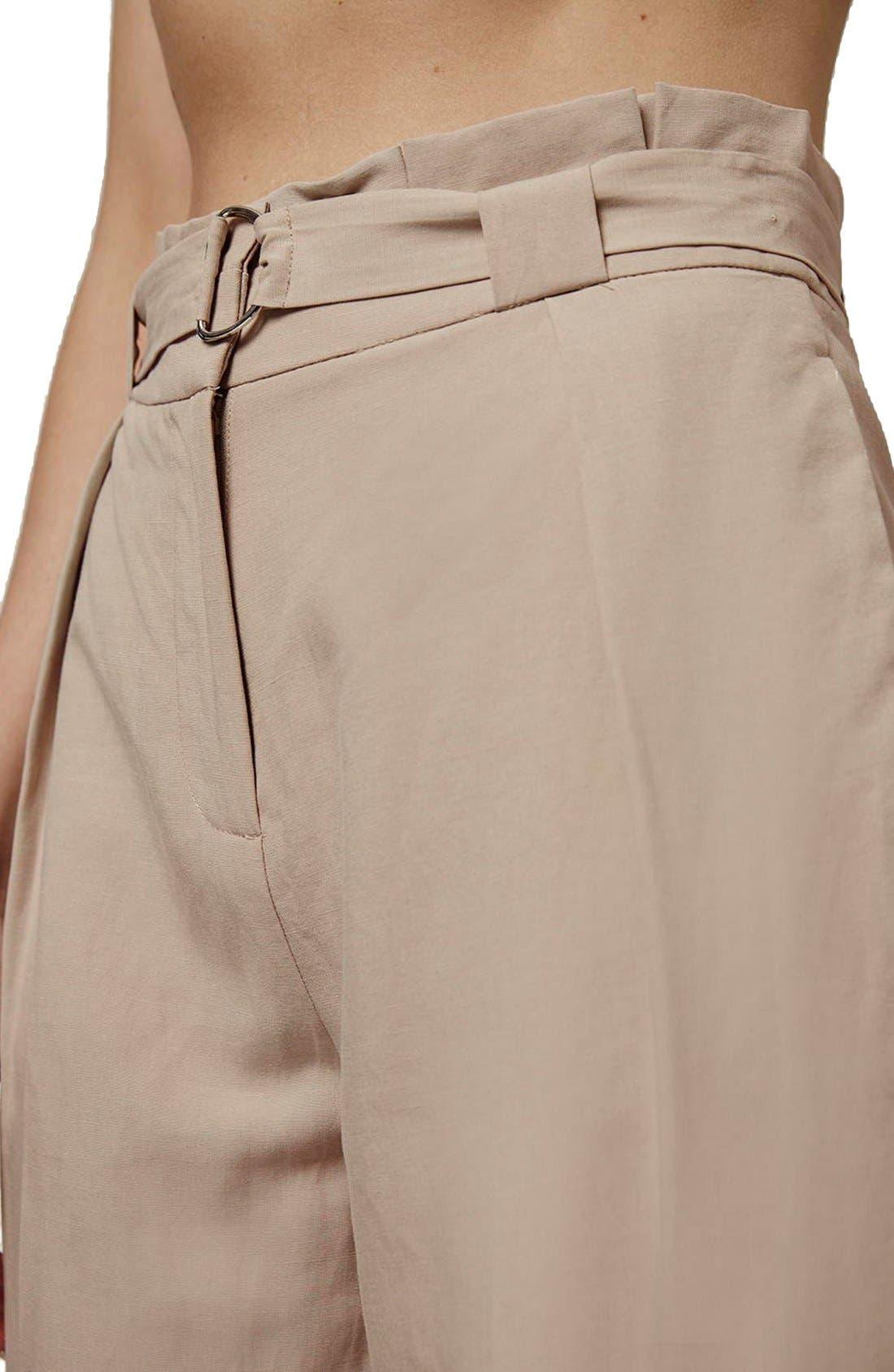 Paperbag Peg Trousers,                             Alternate thumbnail 6, color,                             250