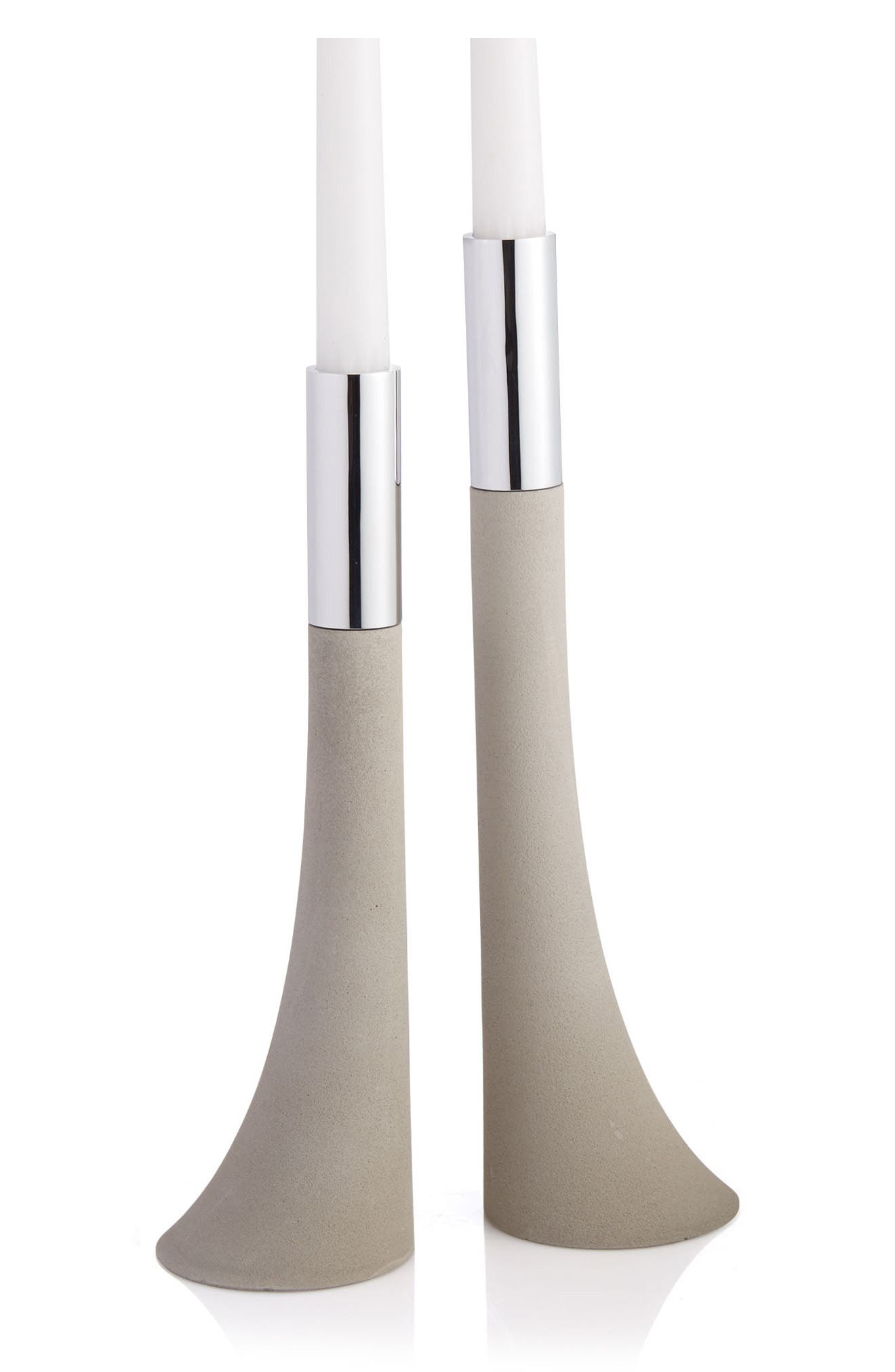 Forte Set of 2 Candlesticks,                             Alternate thumbnail 2, color,                             SILVER/ GREY