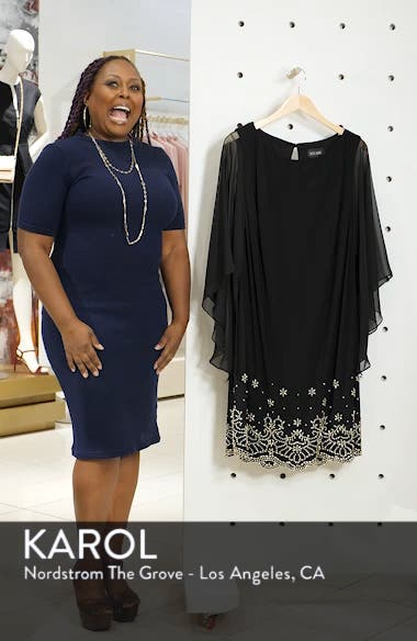 Embellished Chiffon Shift Dress, sales video thumbnail