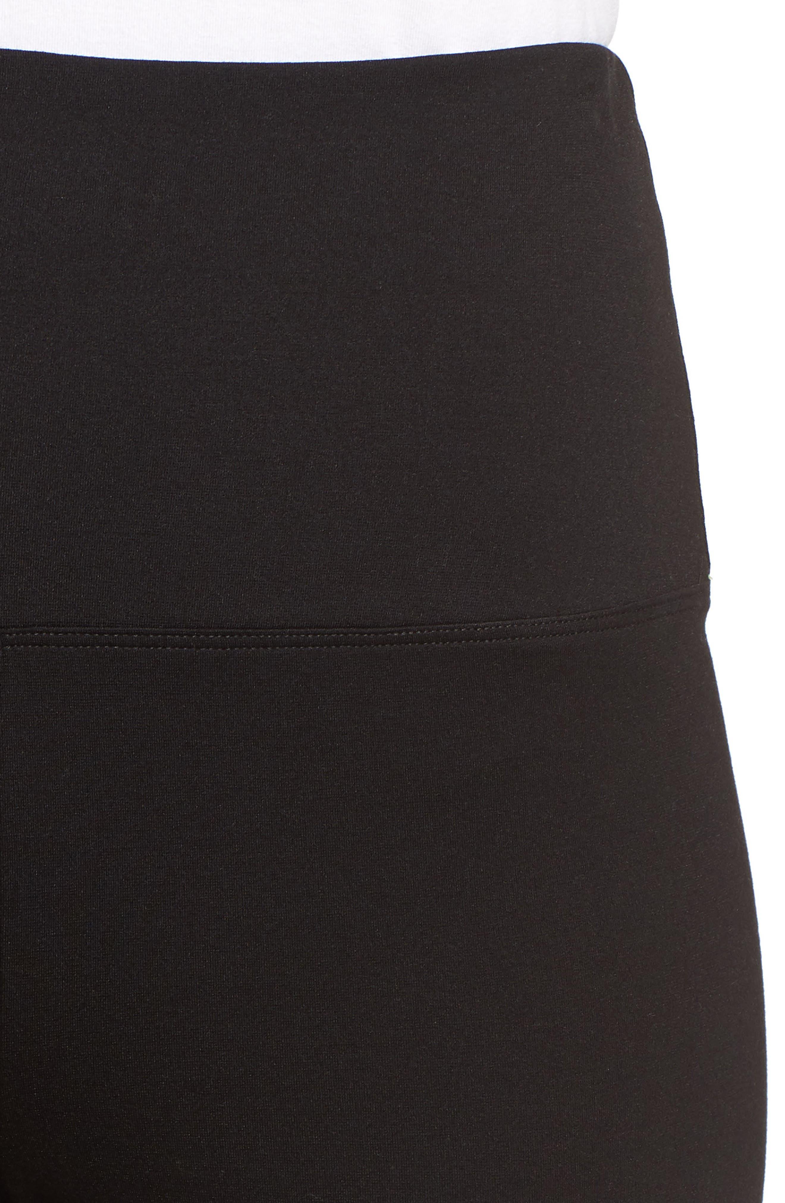 Wide Leg Crop Leggings,                             Alternate thumbnail 4, color,                             BLACK