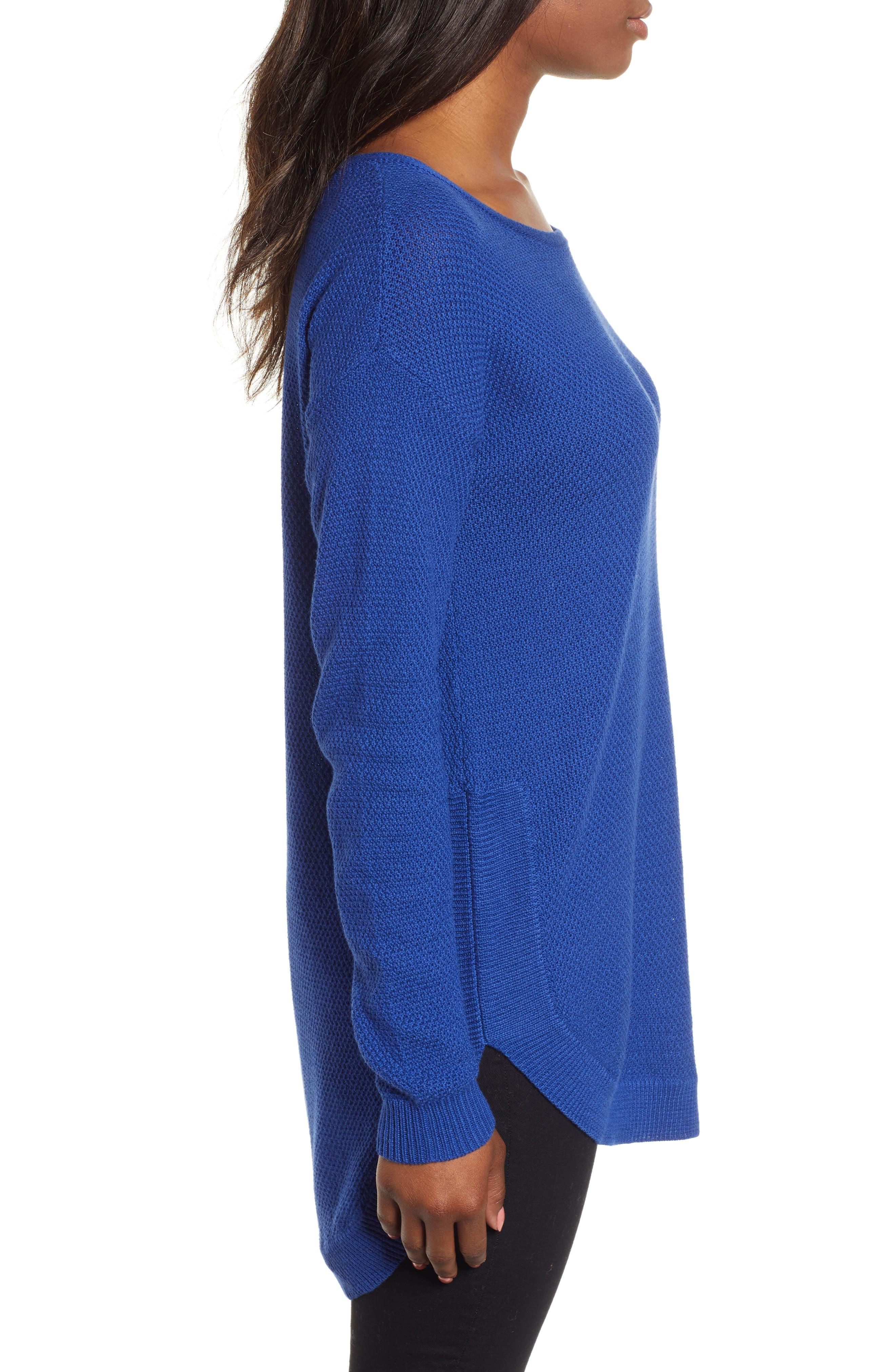 Texture Knit Tunic,                             Alternate thumbnail 3, color,                             401