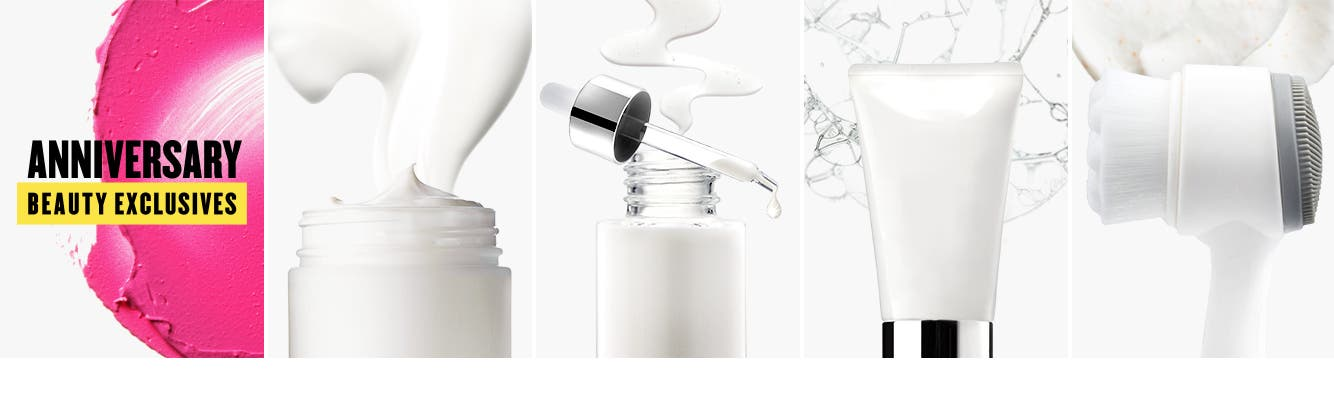 Women's skin care essentials.