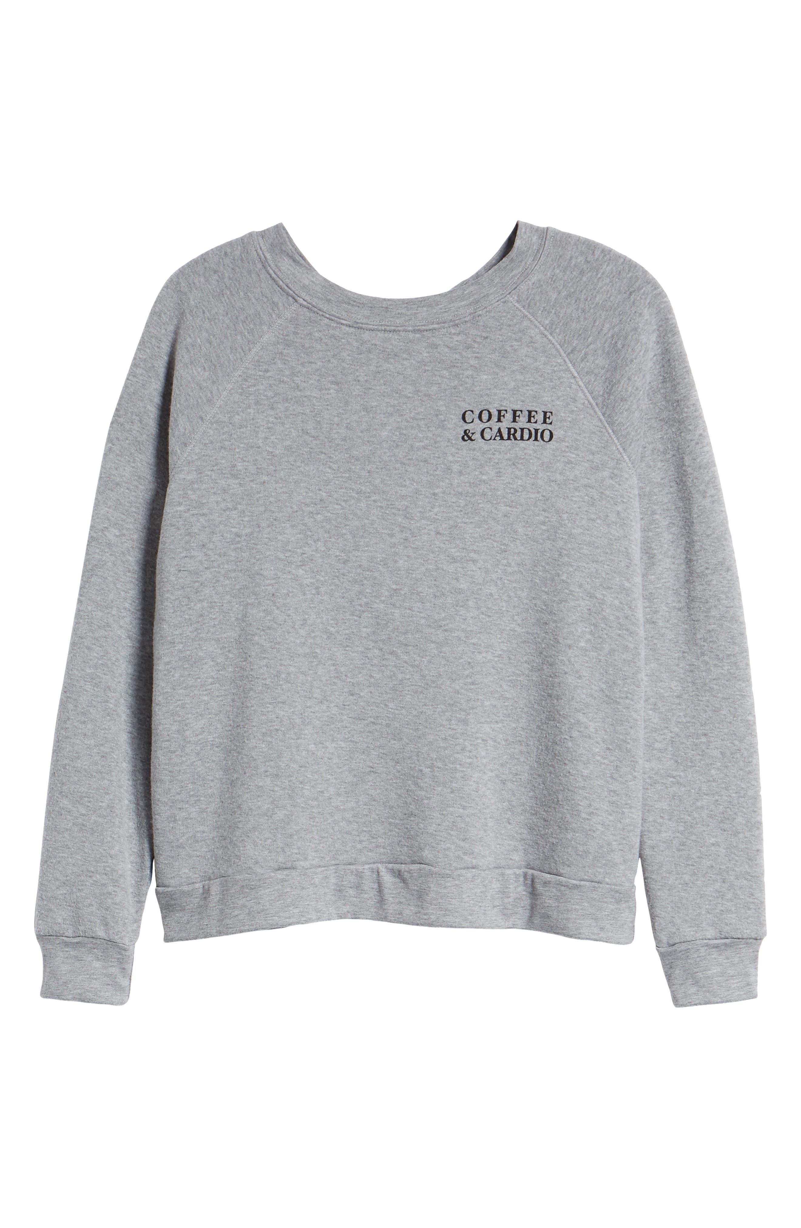 Reversible Graphic Sweatshirt,                             Alternate thumbnail 7, color,                             HEATHER GREY