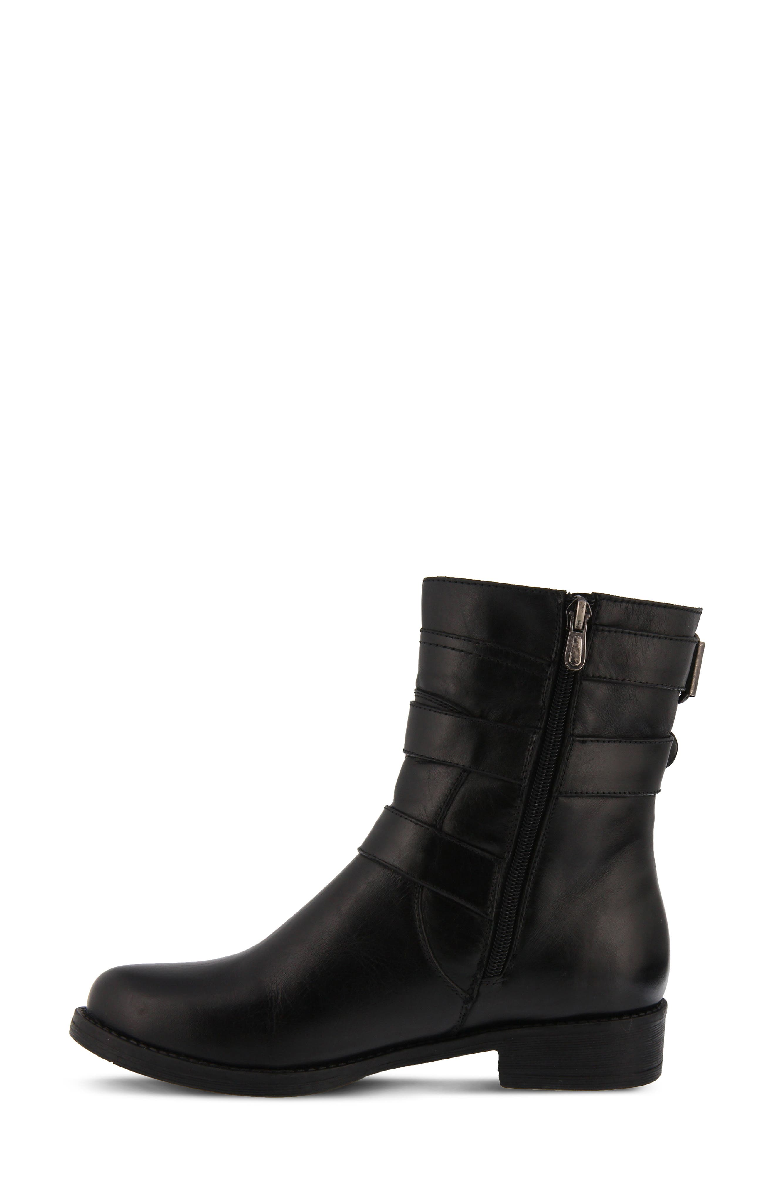 Diony Engineer Bootie,                             Alternate thumbnail 6, color,                             BLACK LEATHER