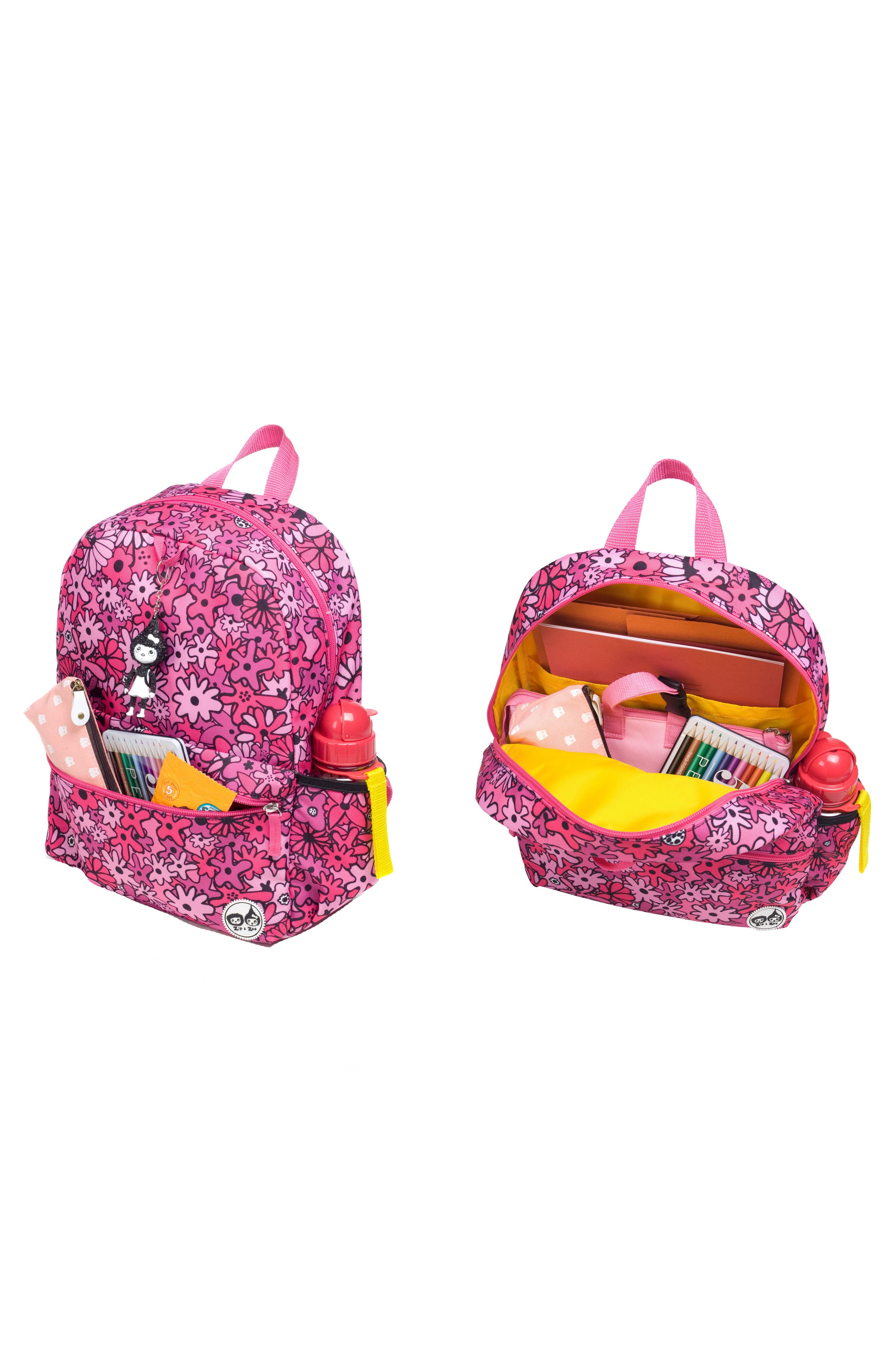 BABYMEL,                             Zip & Zoe Floral Junior Backpack,                             Alternate thumbnail 6, color,                             650