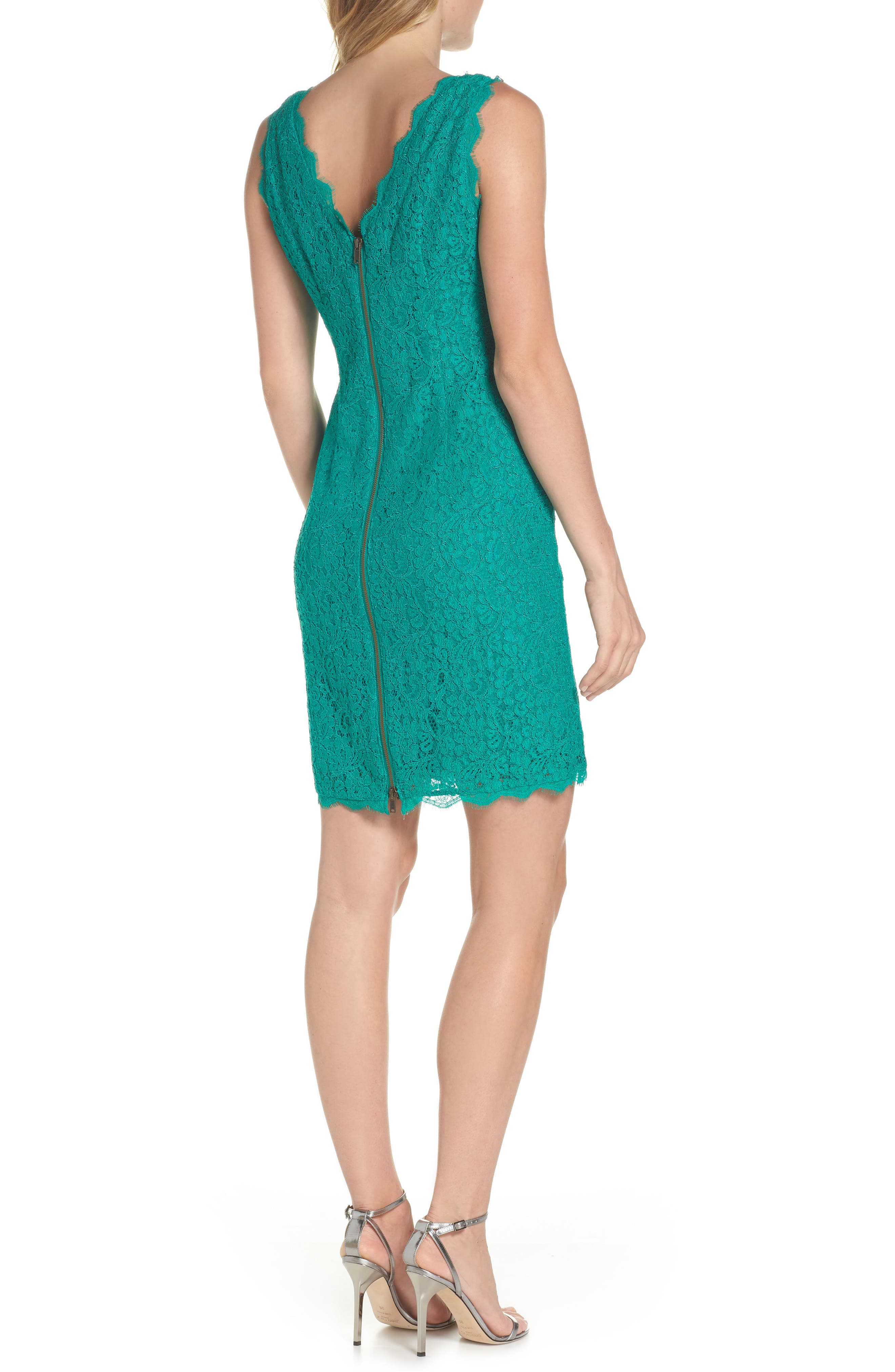 Boatneck Lace Sheath Dress,                             Alternate thumbnail 66, color,