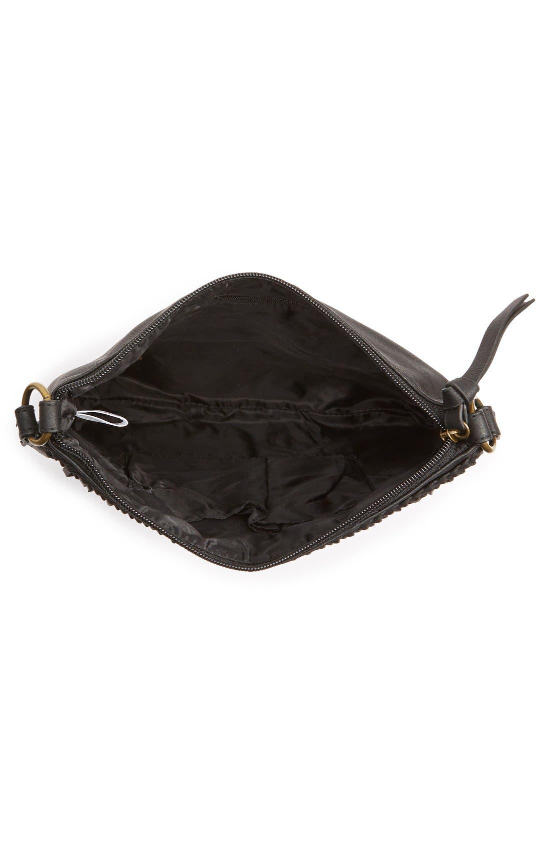Layered Fringe Crossbody Bag,                             Alternate thumbnail 3, color,                             001