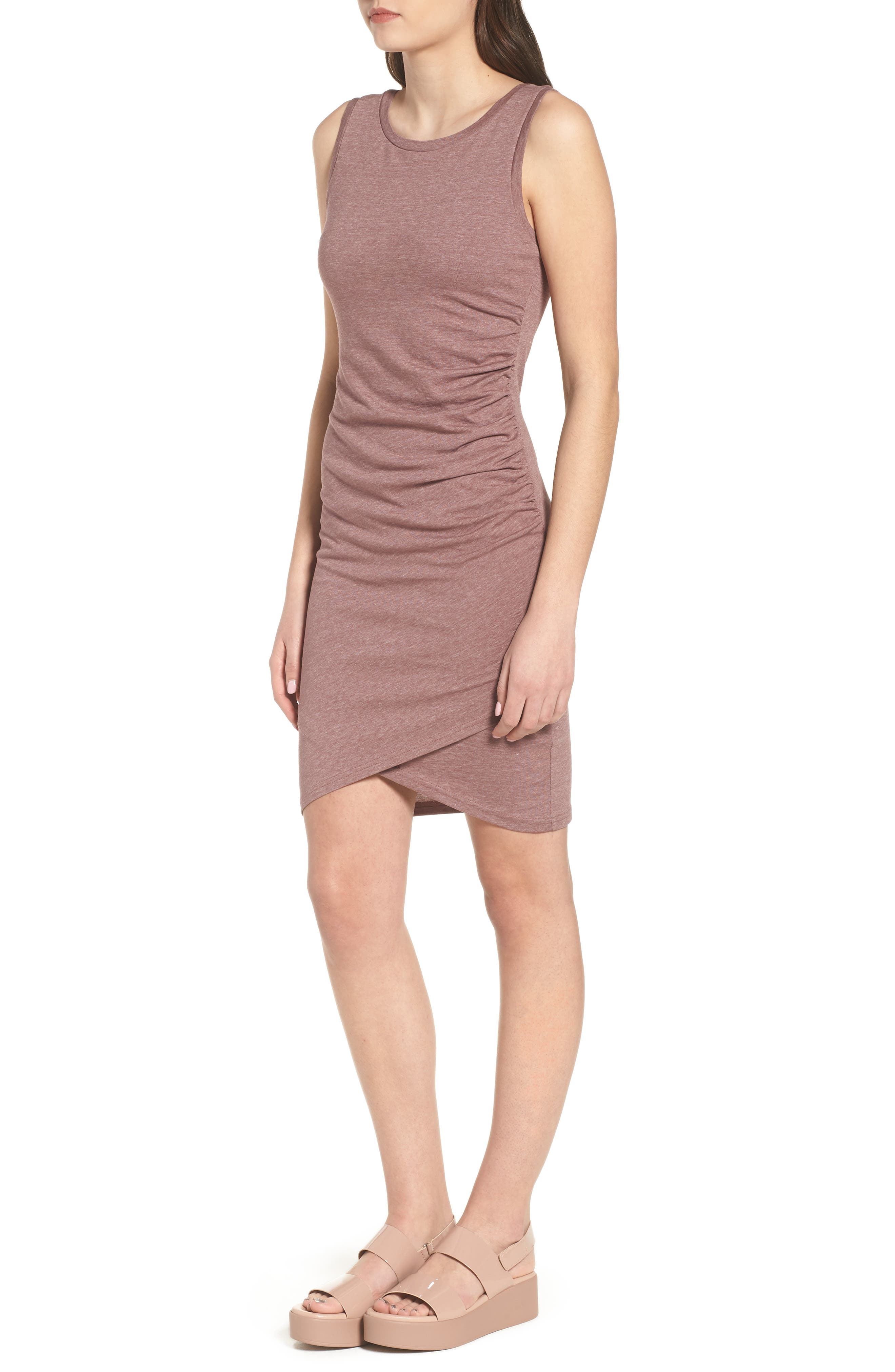 Ruched Body-Con Tank Dress,                             Alternate thumbnail 81, color,