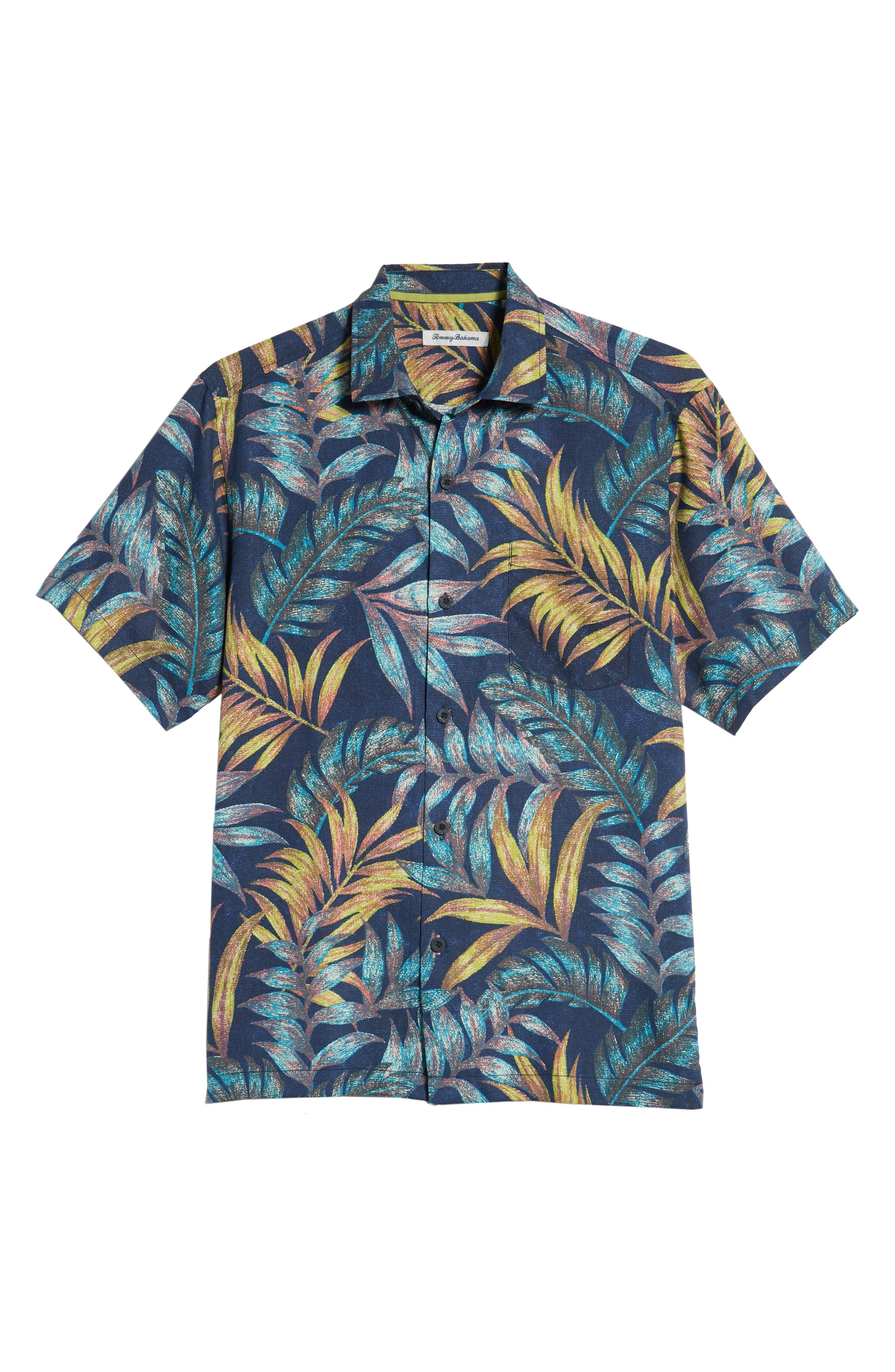 Parque Palms Sport Shirt,                             Alternate thumbnail 5, color,                             RIVIERA AZURE