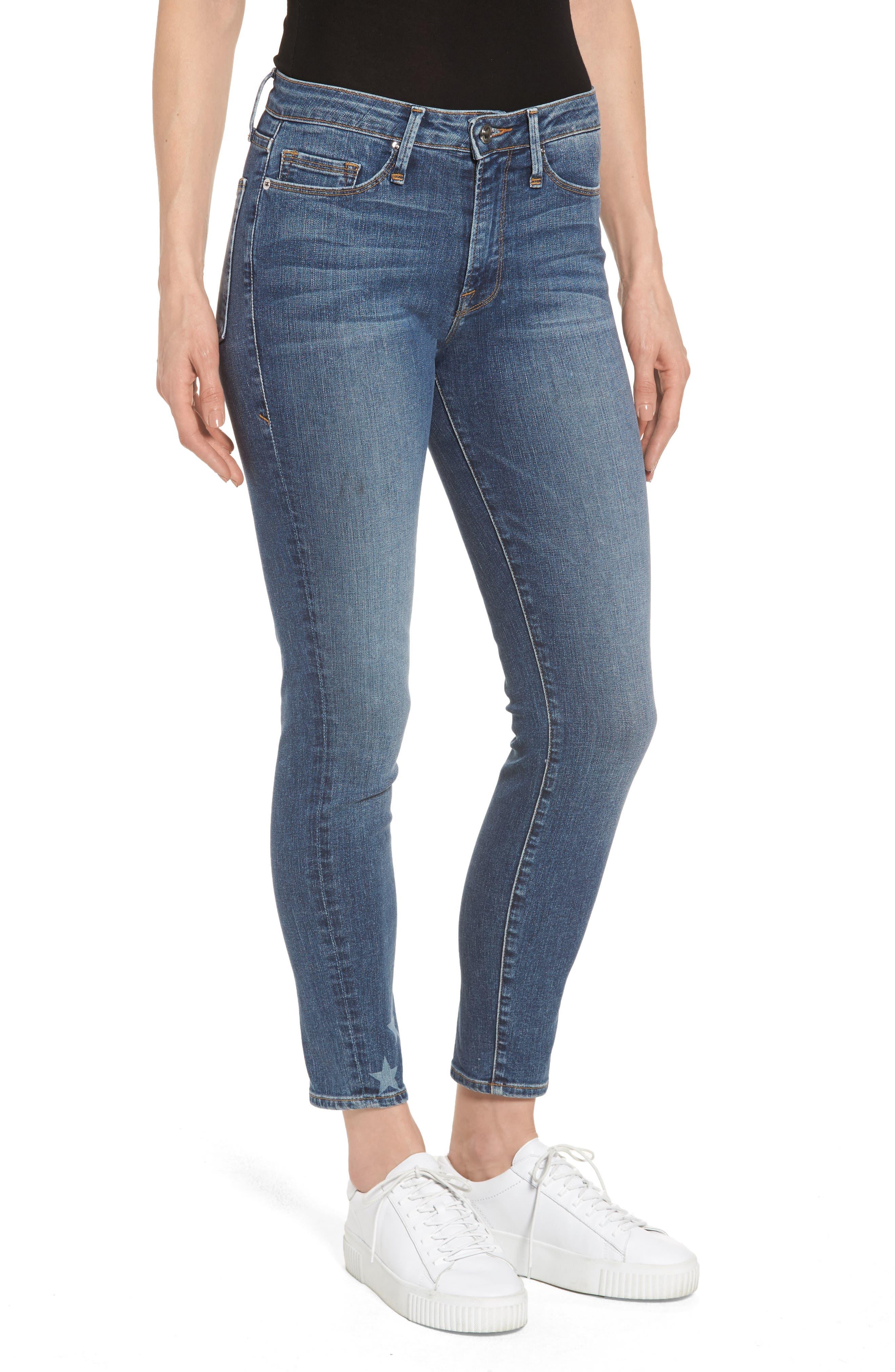 Good Legs High Waist American Flag Crop Skinny Jeans,                             Main thumbnail 1, color,