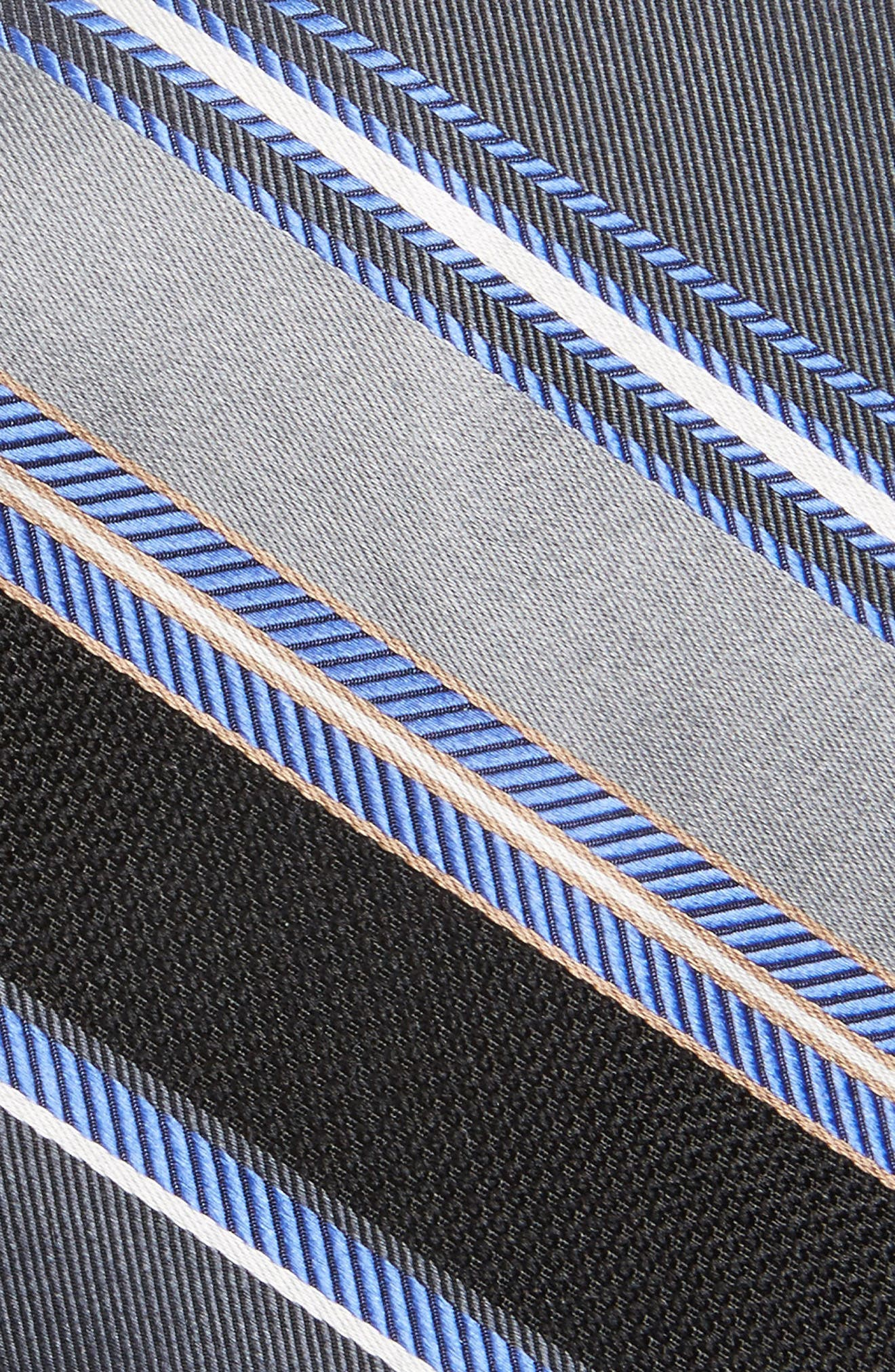 Regal Stripe Silk Tie,                             Alternate thumbnail 2, color,                             001