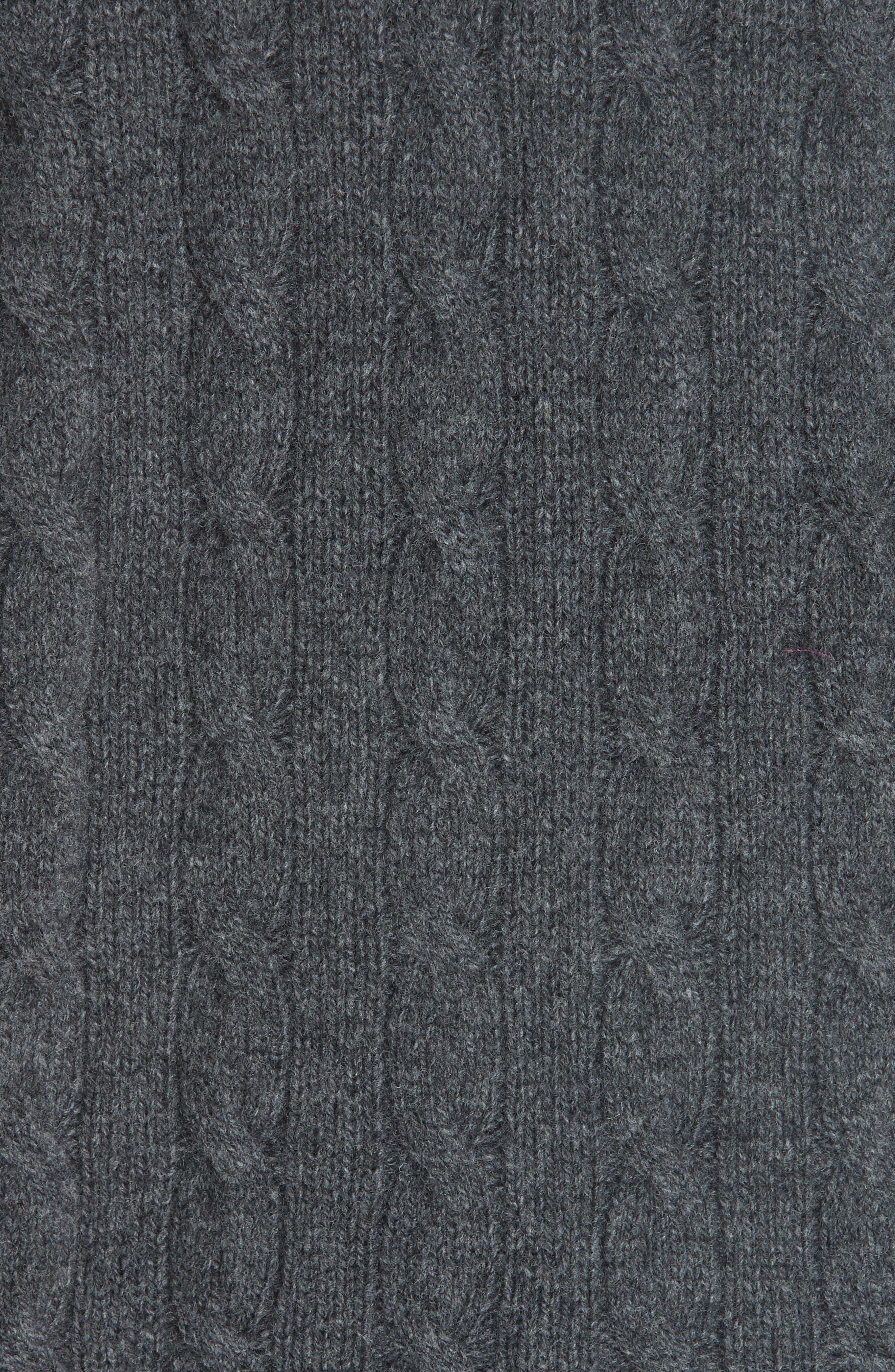 Side Slit Cable Turtleneck,                             Alternate thumbnail 5, color,                             020