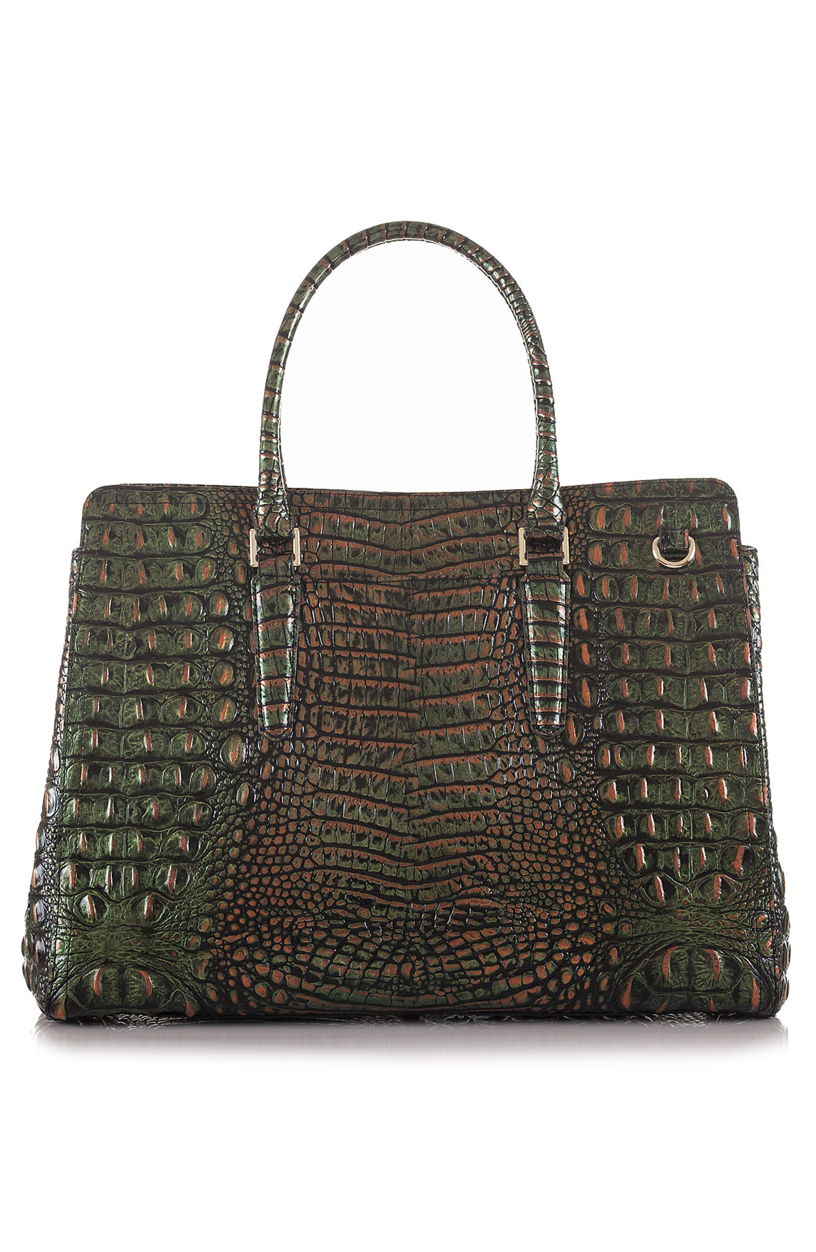 Finley Croc Embossed Leather Tote,                             Alternate thumbnail 2, color,                             SAMBA