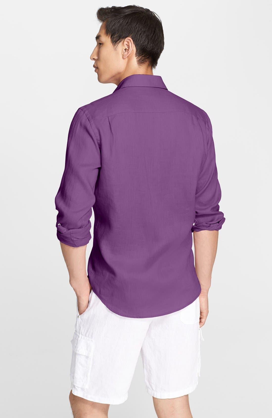 'Caroubier' Linen Shirt,                             Alternate thumbnail 27, color,