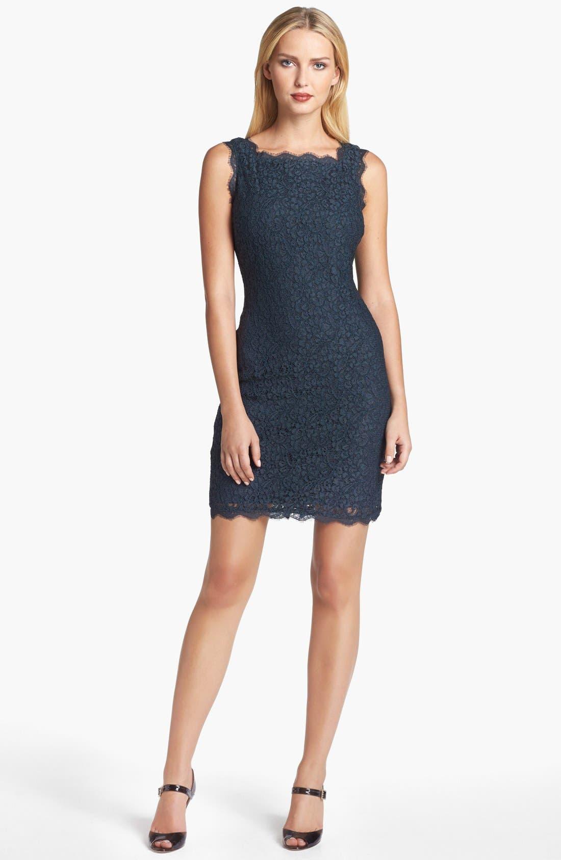Boatneck Lace Sheath Dress,                             Main thumbnail 8, color,