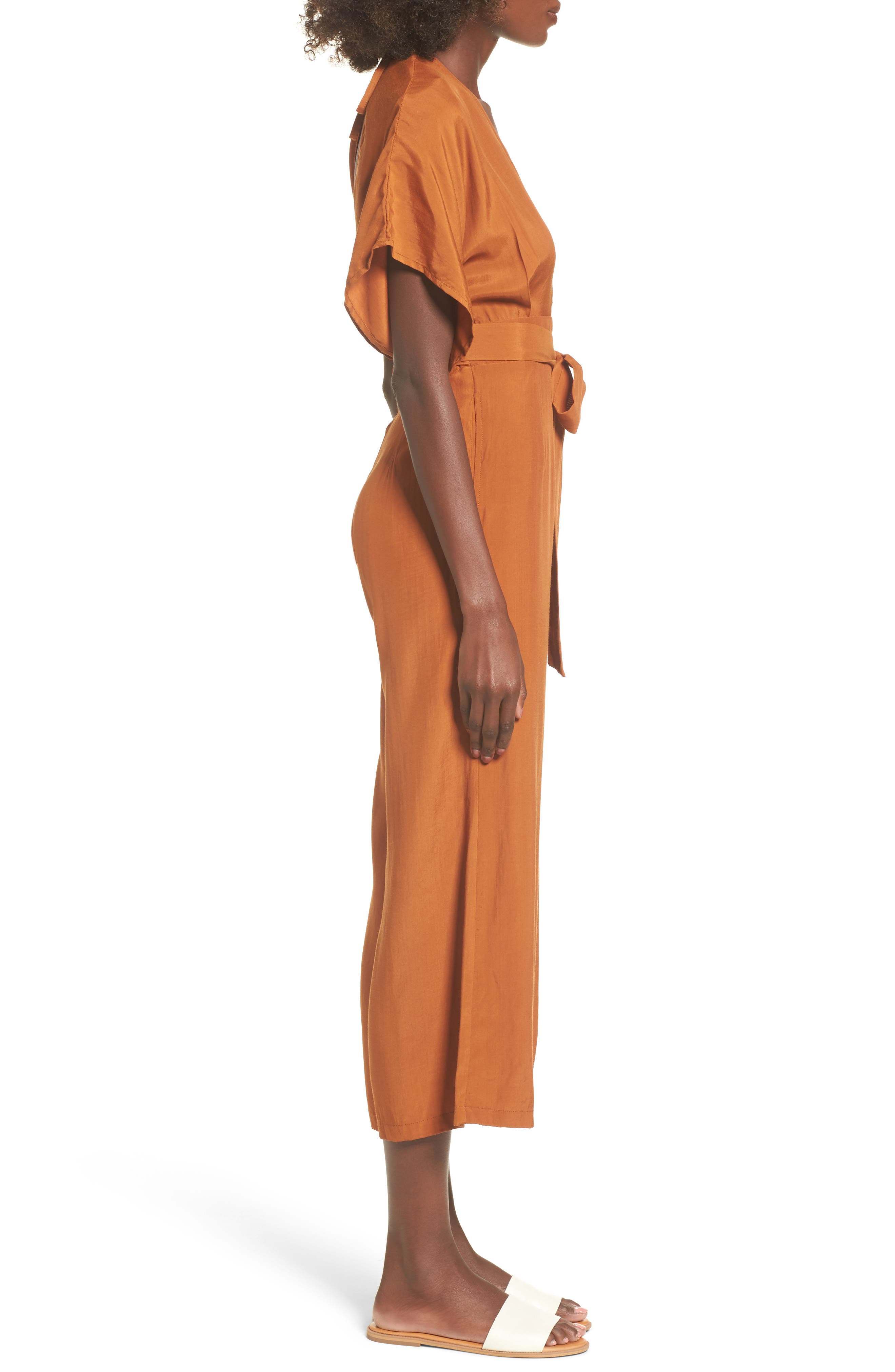 Cedric Plunging Jumpsuit,                             Alternate thumbnail 3, color,