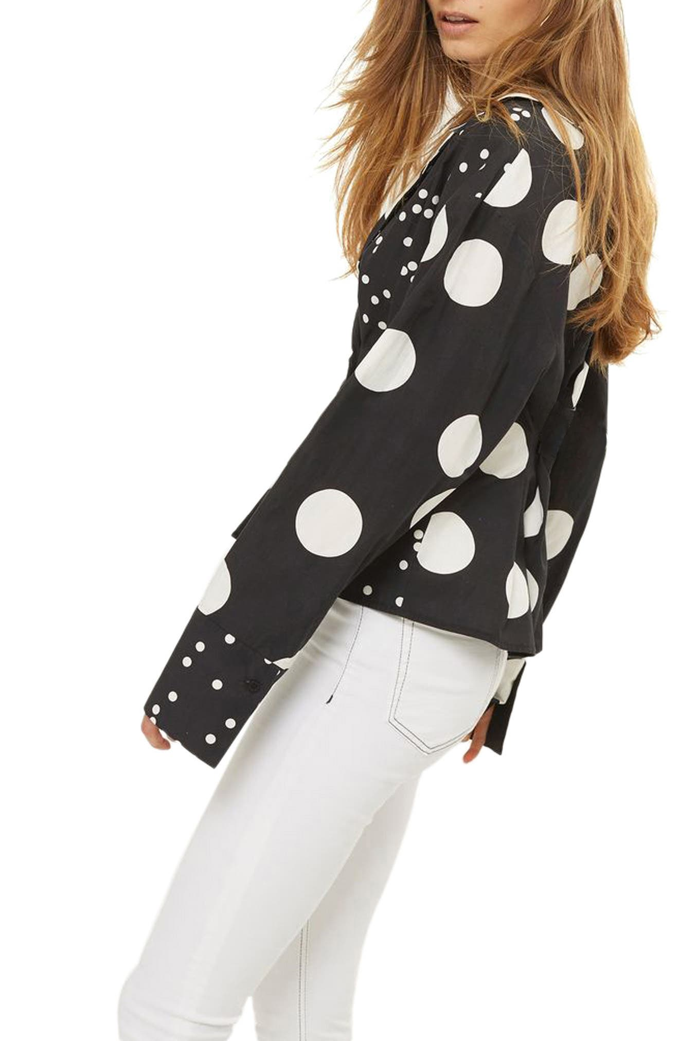 Mix Match Polka Dot Blouse,                             Alternate thumbnail 2, color,                             001