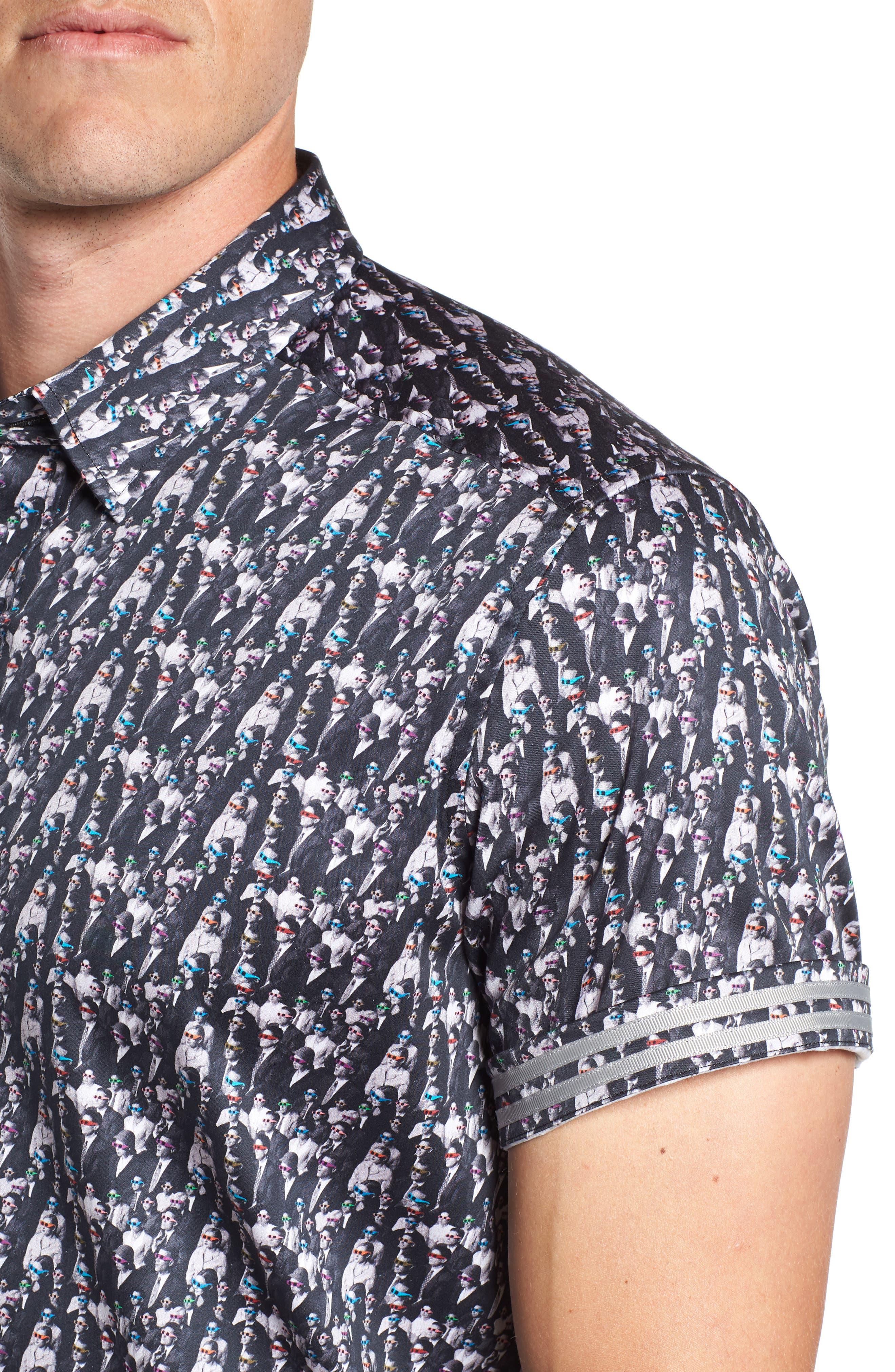 ROBERT GRAHAM,                             Cinema Tailored Fit Sport Shirt,                             Alternate thumbnail 2, color,                             001