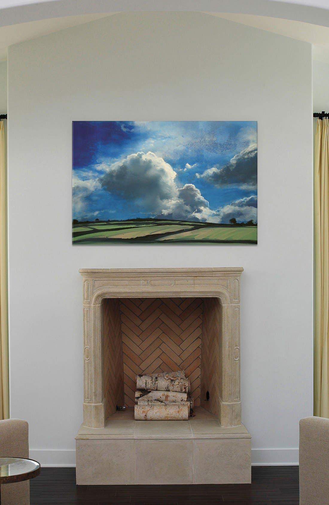'Beyond Summer Sky' Giclée Print Canvas Art,                             Alternate thumbnail 2, color,