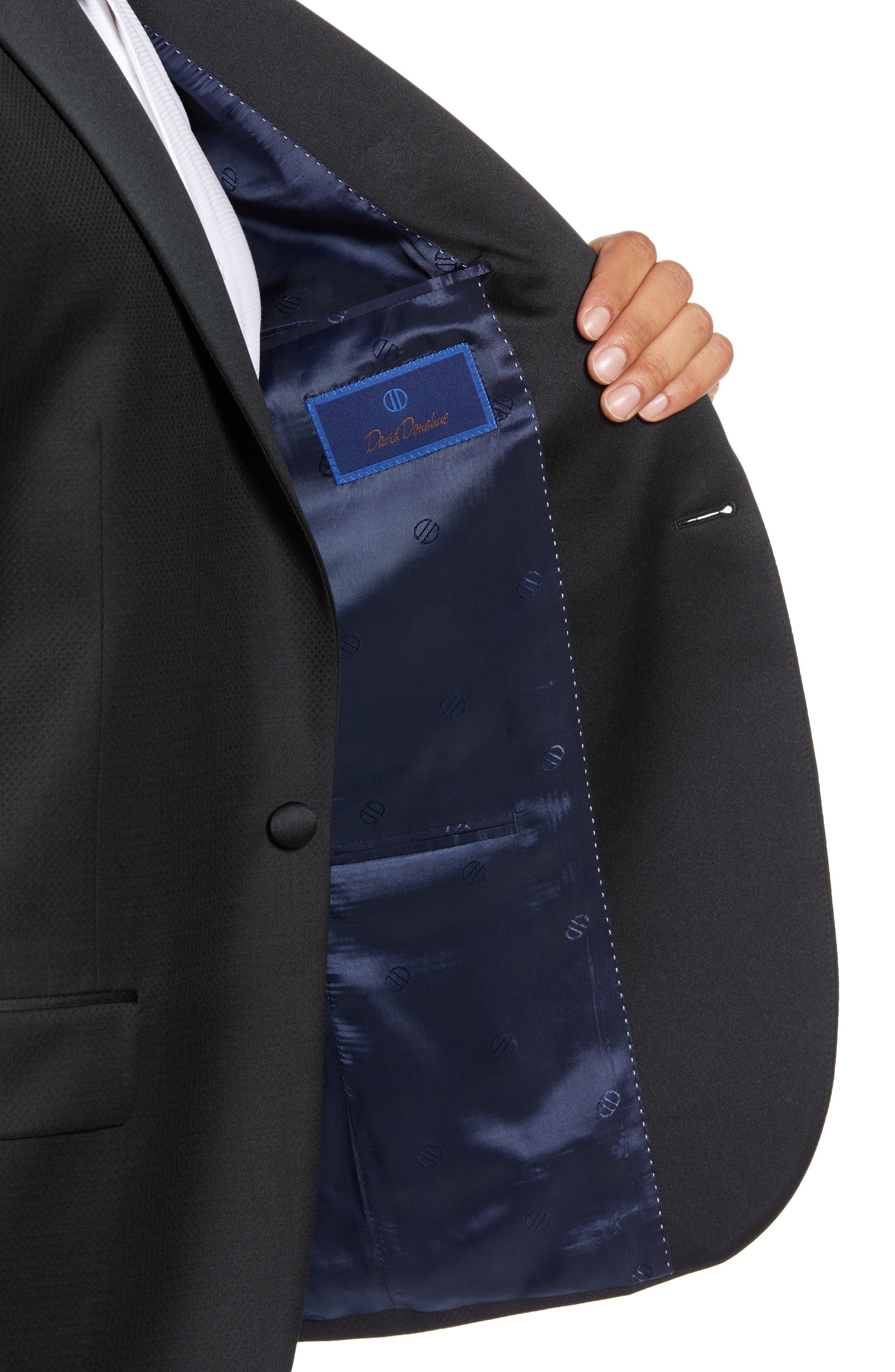 Reed Wool Dinner Jacket,                             Alternate thumbnail 4, color,                             BLACK