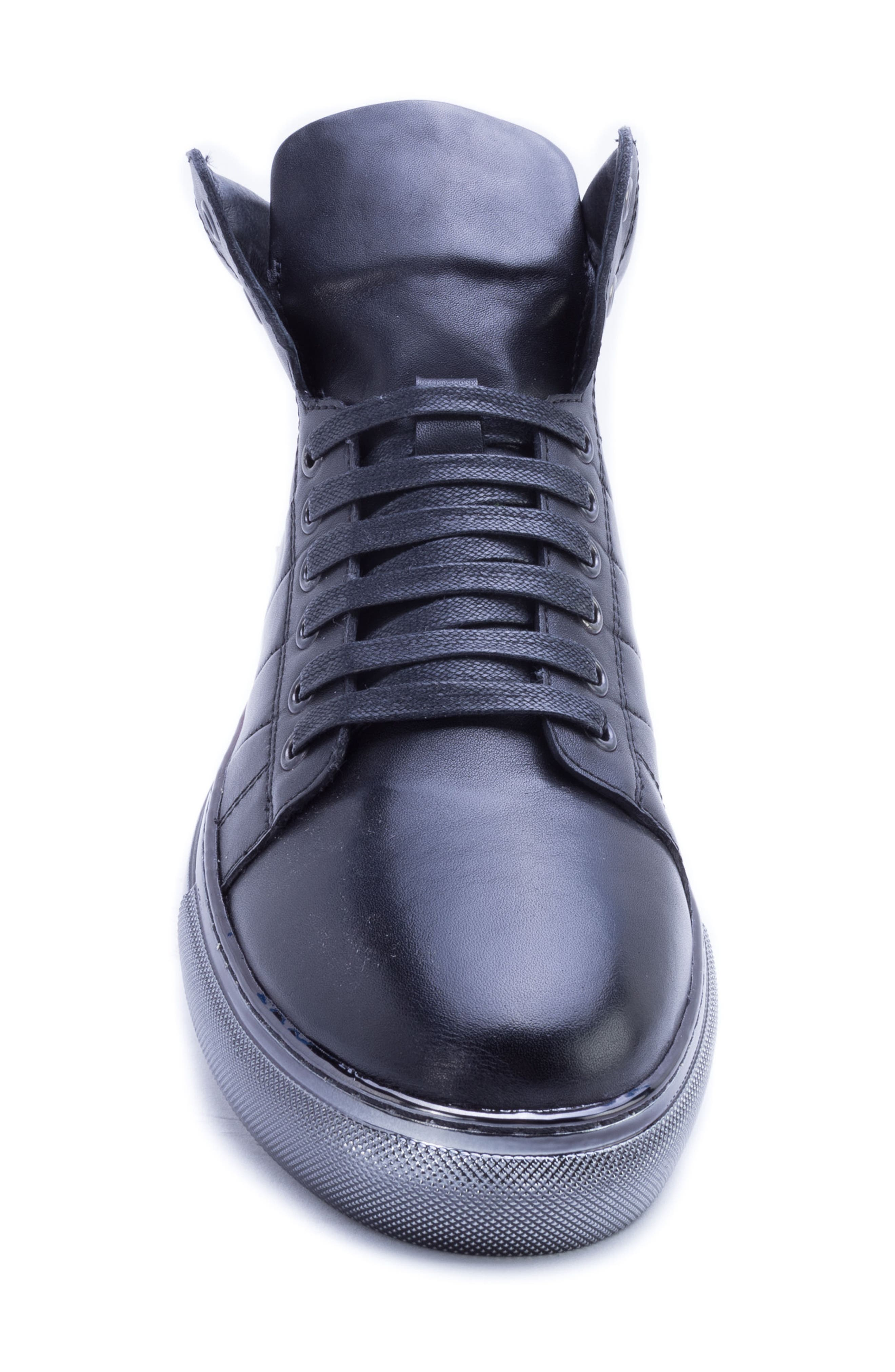 BADGLEY MISCHKA COLLECTION,                             Badgley Mischka Bronson Sneaker,                             Alternate thumbnail 5, color,                             BLACK LEATHER