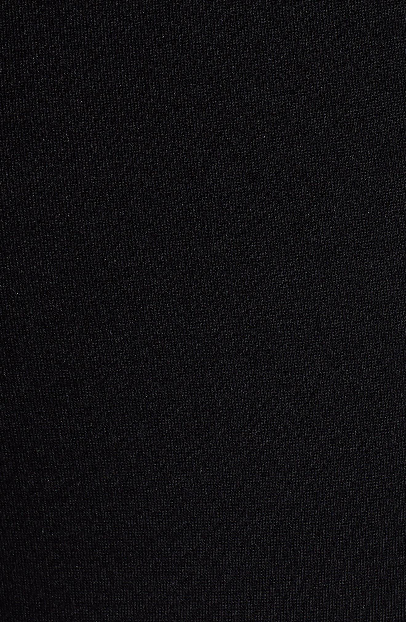 Skinny Ponte Knit Pants,                             Alternate thumbnail 5, color,                             001