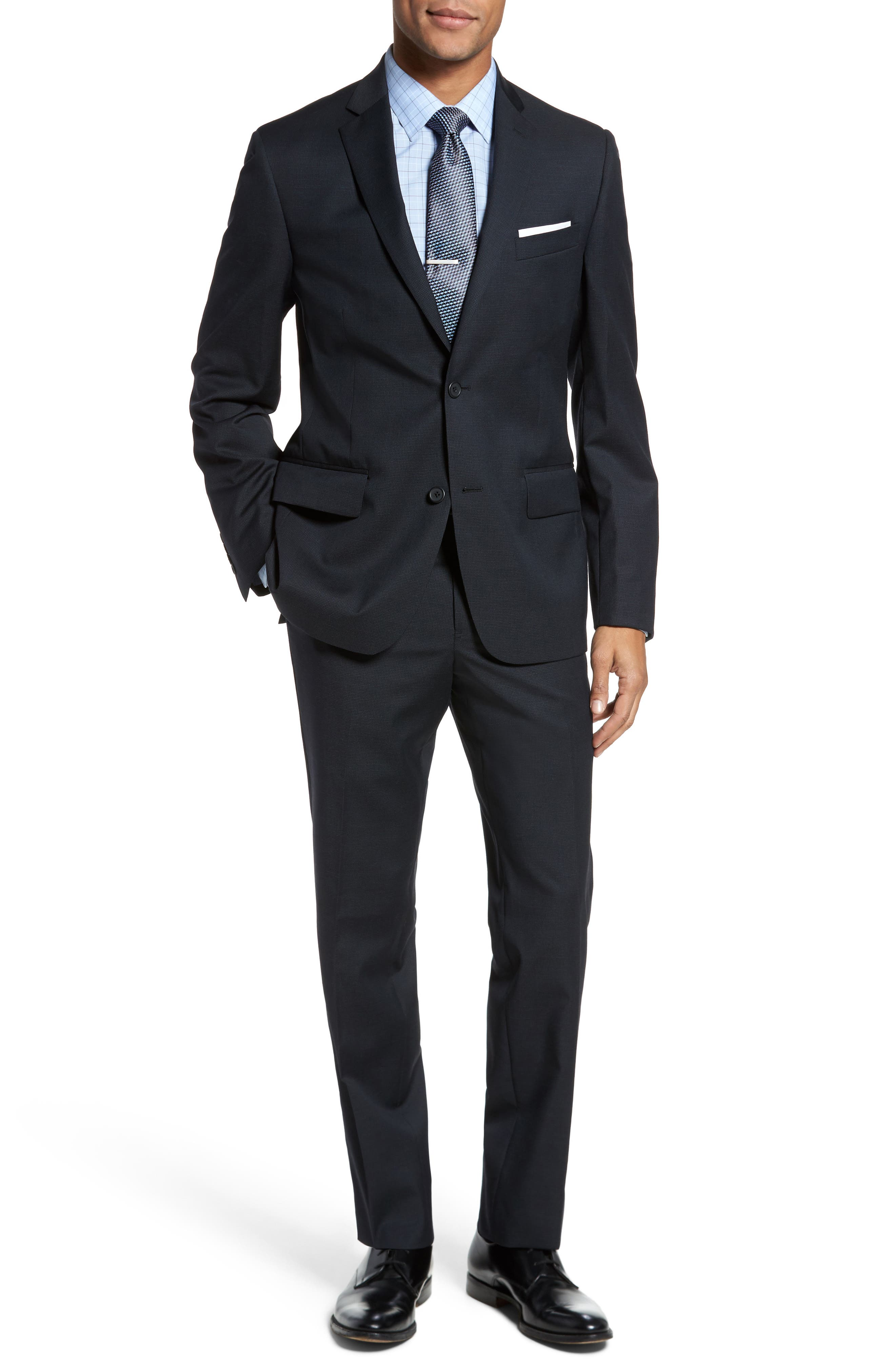 Classic Fit Check Wool Suit,                             Main thumbnail 3, color,