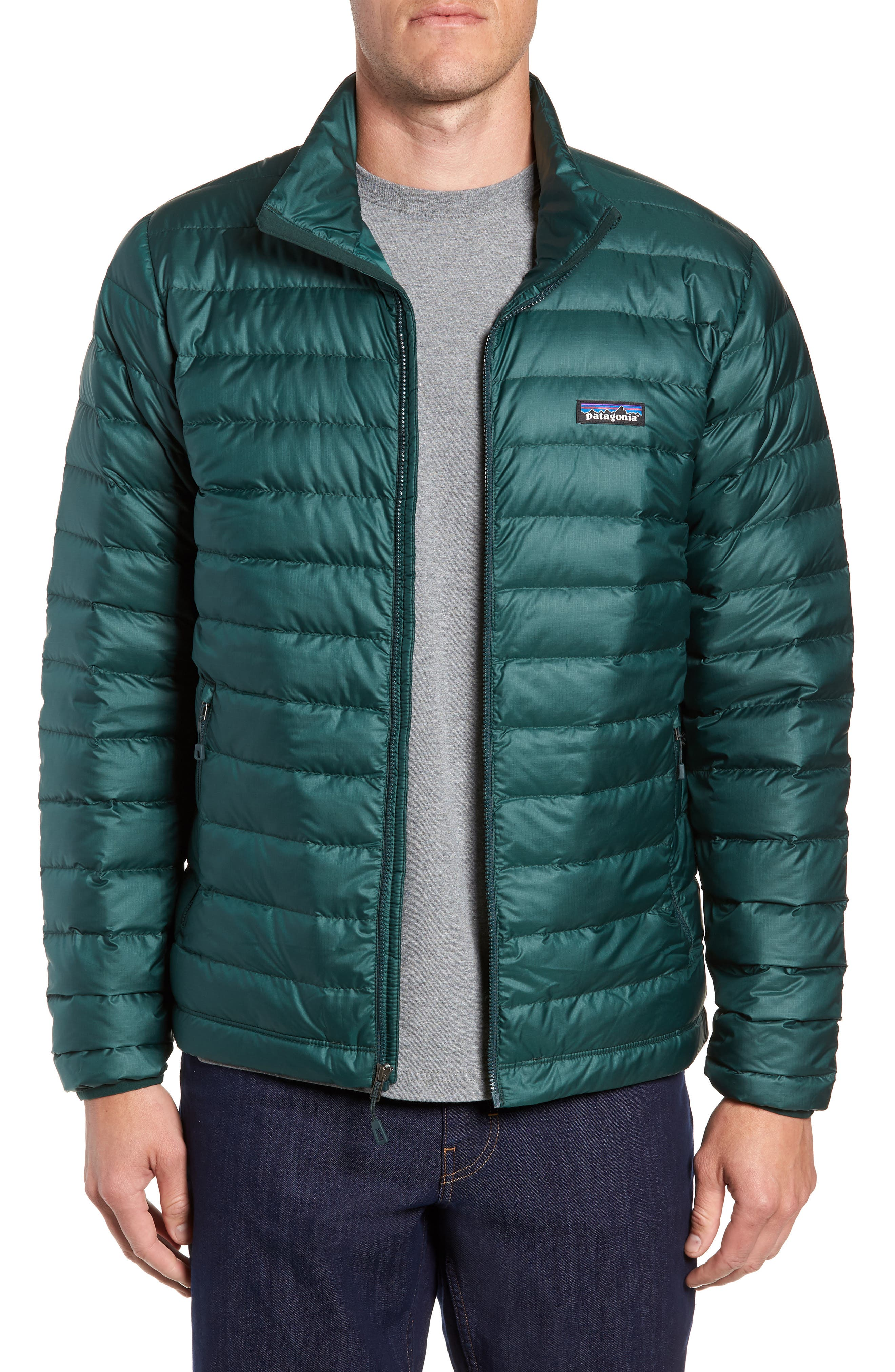 Water Repellent Down Jacket,                         Main,                         color, MICRO GREEN