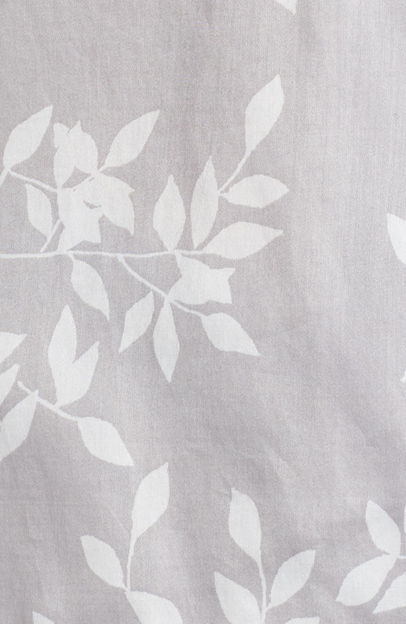 Branch Print Cotton Sateen Short Pajamas,                             Alternate thumbnail 5, color,                             021