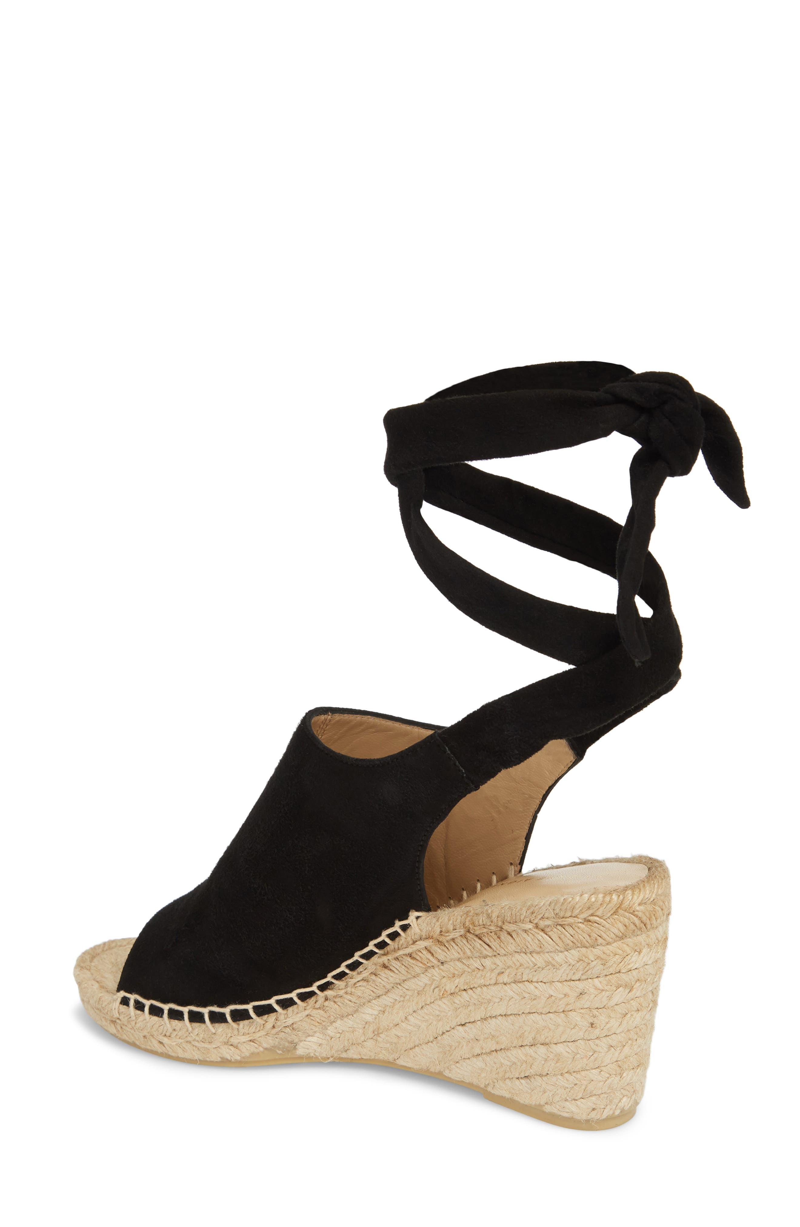 Vie Espadrille Wedge Sandal,                             Alternate thumbnail 2, color,                             BLACK SUEDE