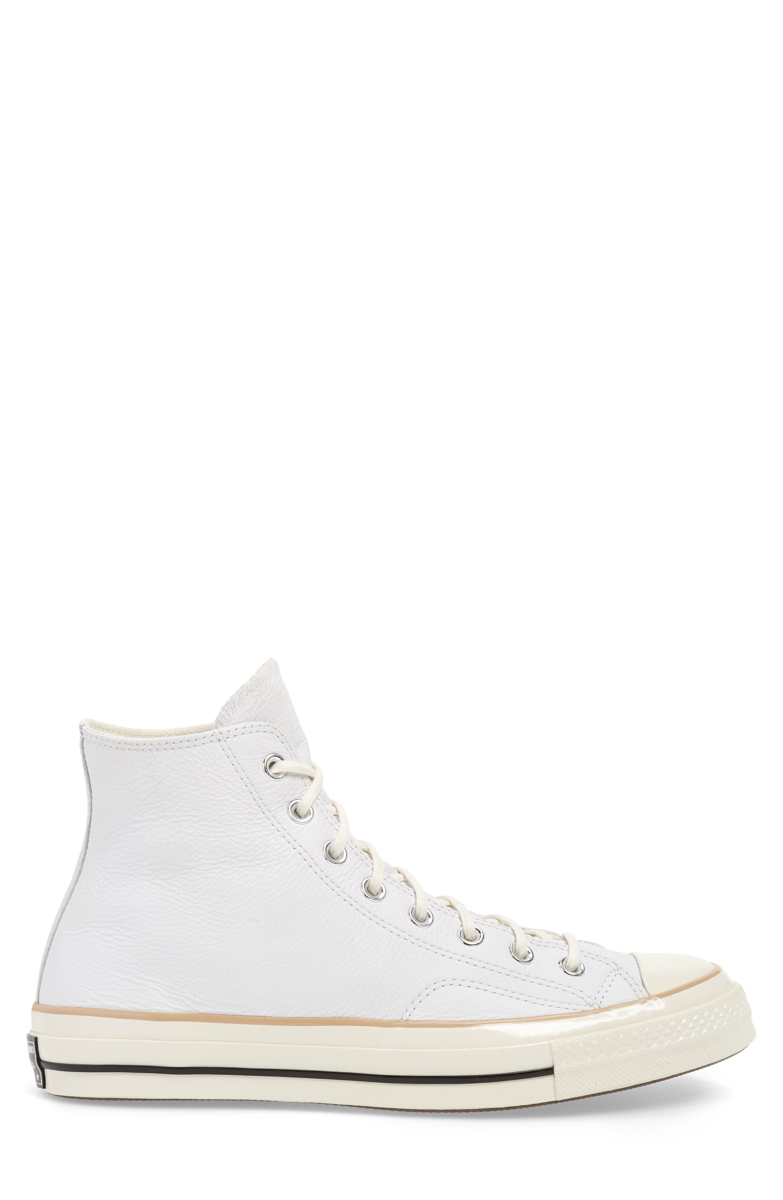 Chuck 70 Boot Leather High Top Sneaker,                             Alternate thumbnail 3, color,                             WHITE/ LIGHT FAWN/ EGRET