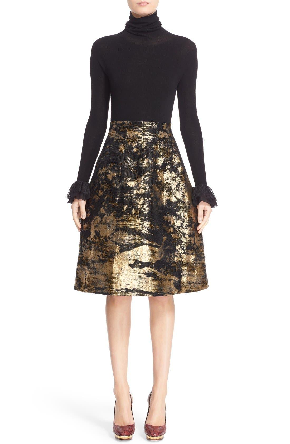 Peacock Jacquard Skirt,                             Alternate thumbnail 2, color,                             710