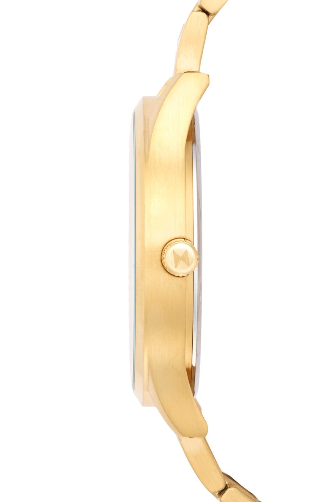 Bracelet Watch, 45mm,                             Alternate thumbnail 3, color,                             GOLD/ BLACK