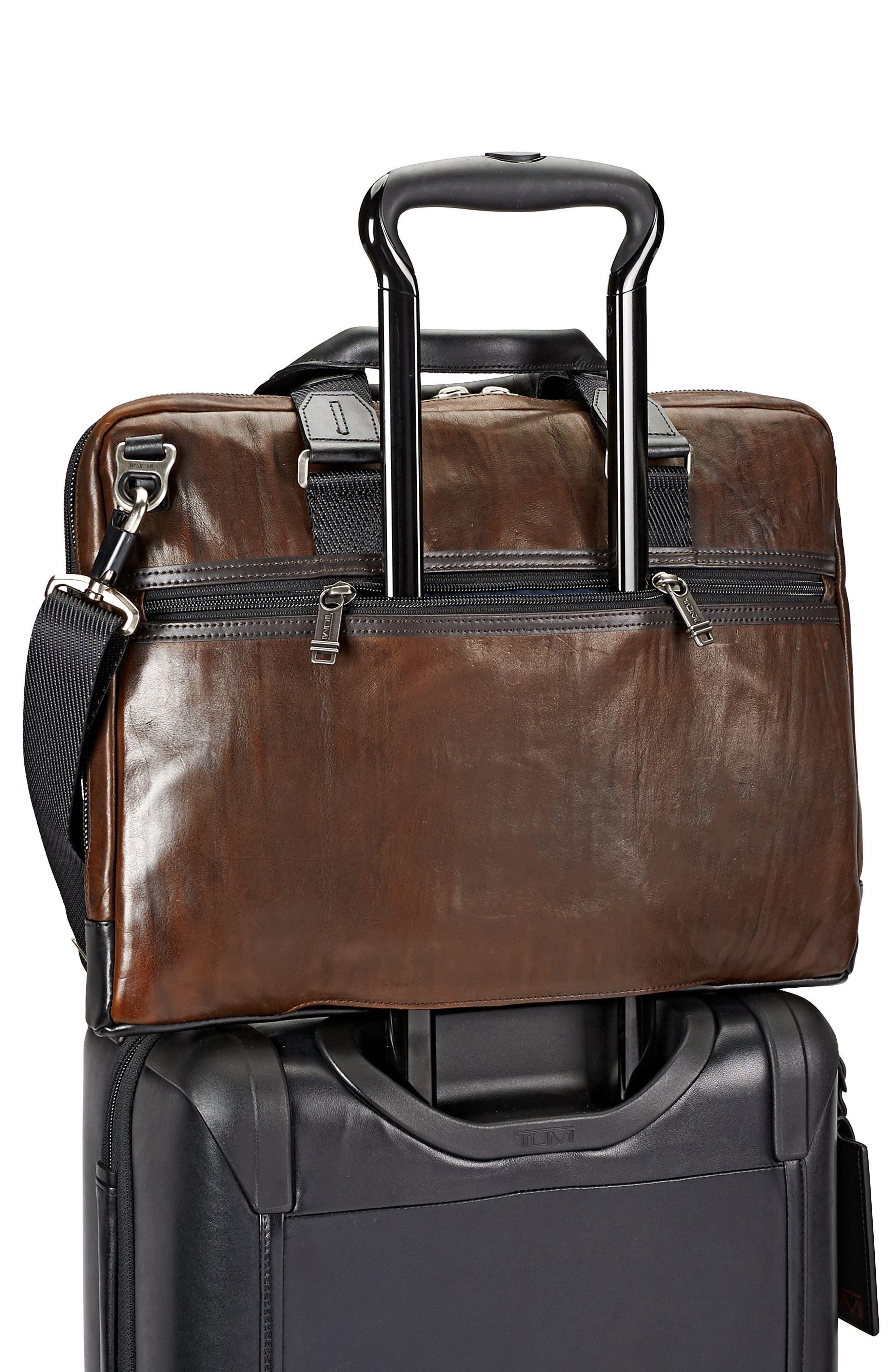 Alpha Bravo - Aviano Leather Briefcase,                             Alternate thumbnail 2, color,