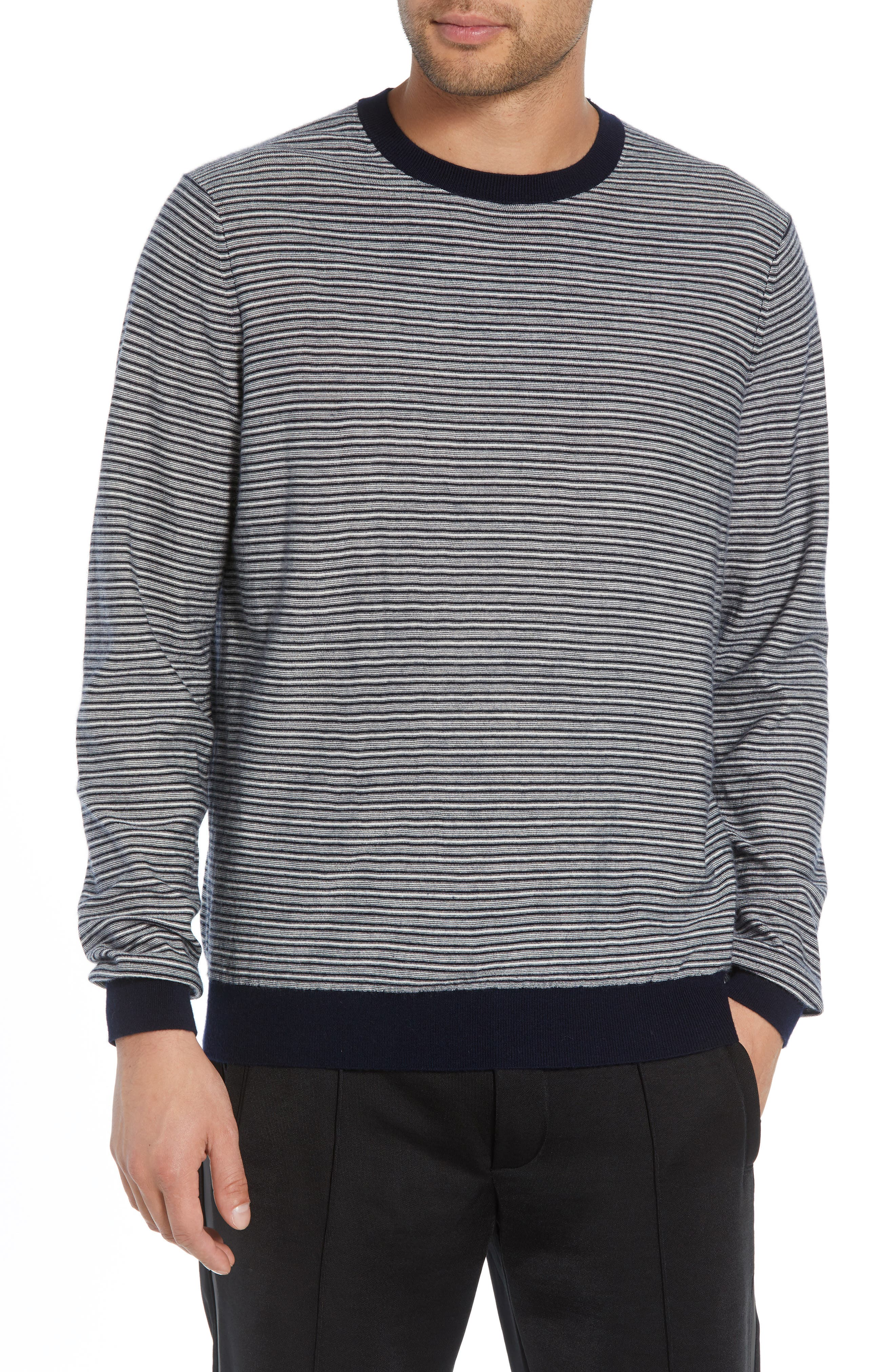 Striped Wool & Cashmere Sweater,                         Main,                         color, 400