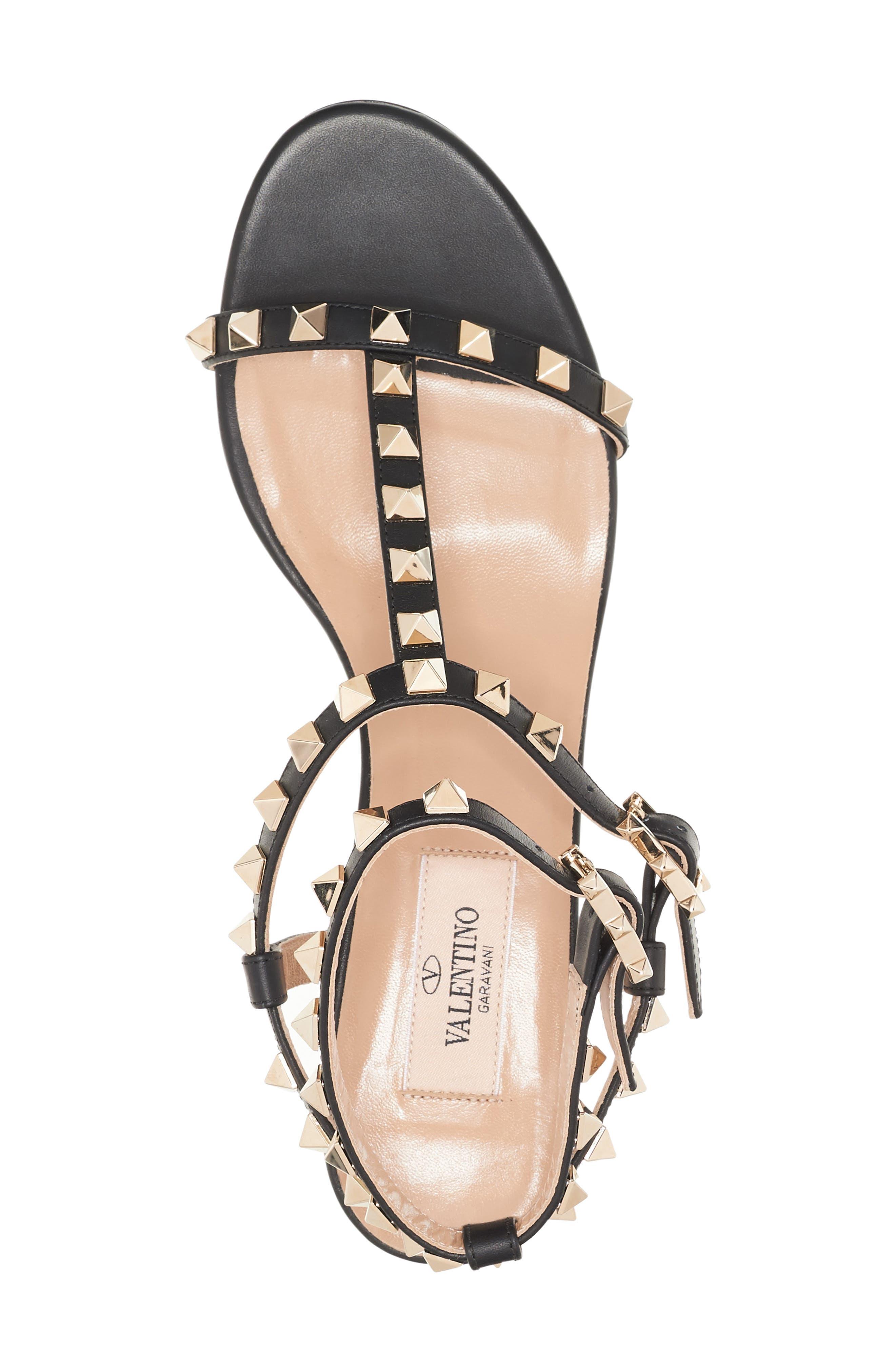 Rockstud Ankle Strap Sandal,                             Alternate thumbnail 2, color,