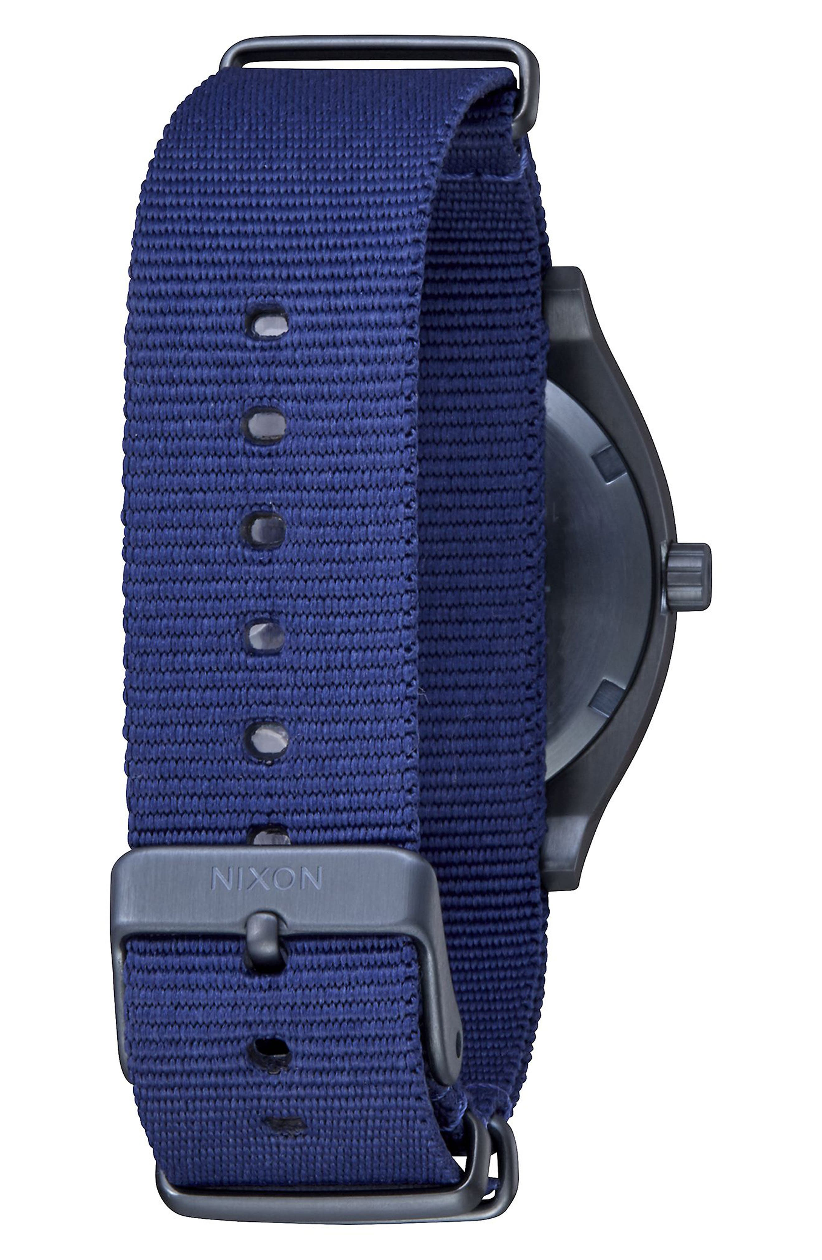 The Time Teller NATO Strap Watch, 37mm,                             Alternate thumbnail 2, color,                             BLUE