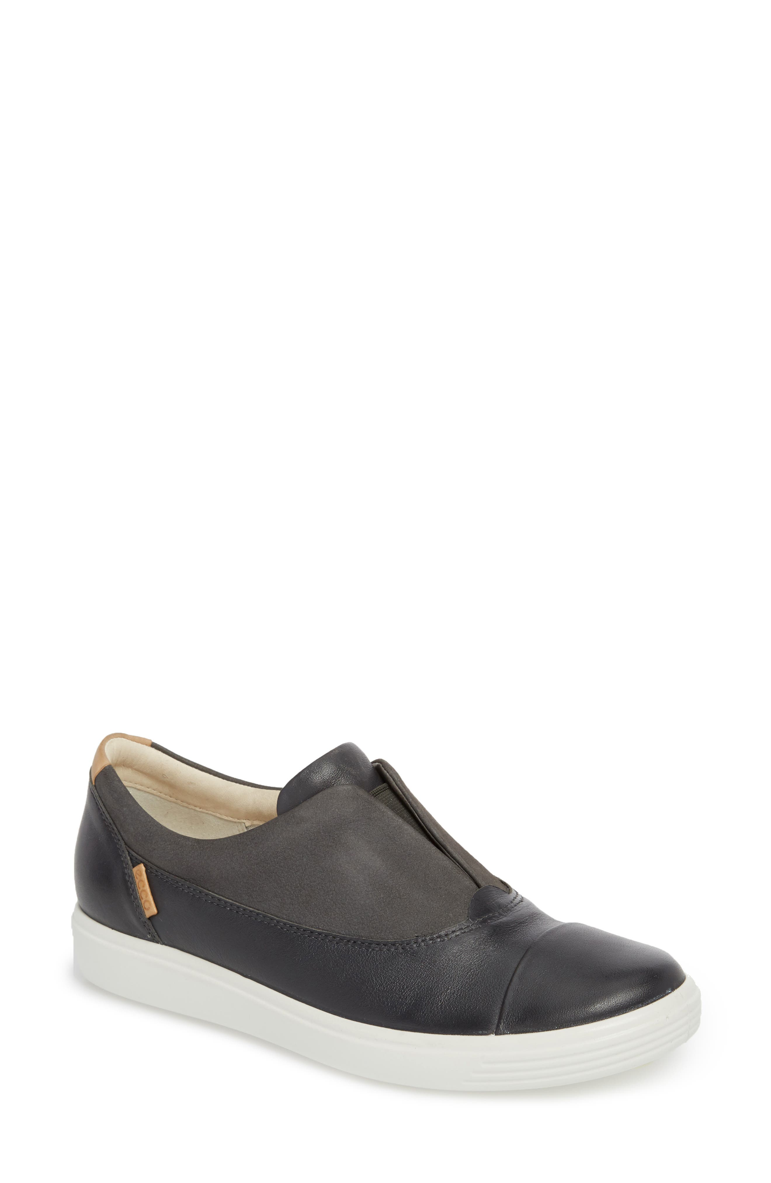 Soft 7 II Slip-On Sneaker,                             Main thumbnail 1, color,                             DARK SHADOW LEATHER