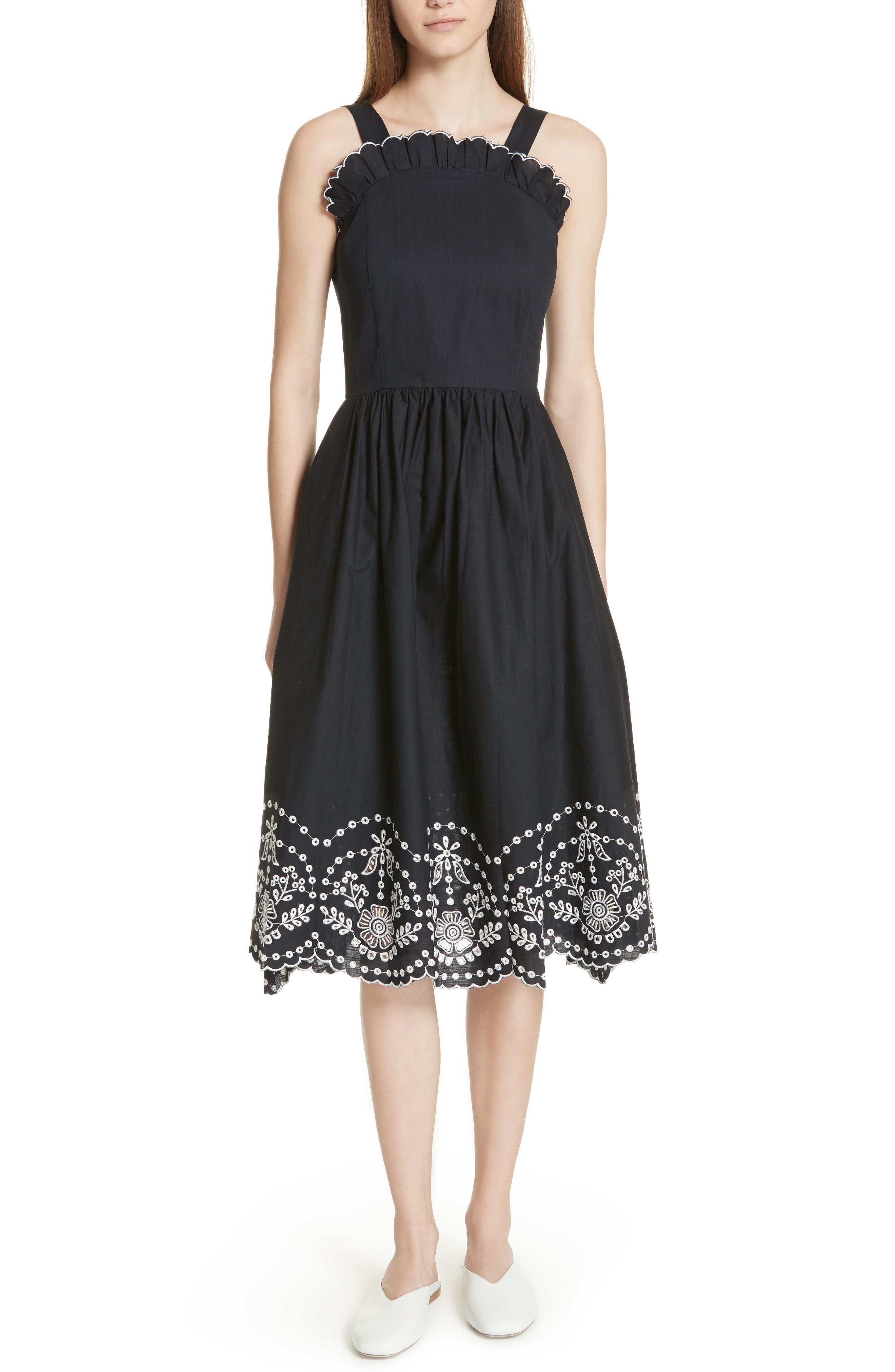 Alouette Eyelet Hem Dress,                         Main,                         color, 400