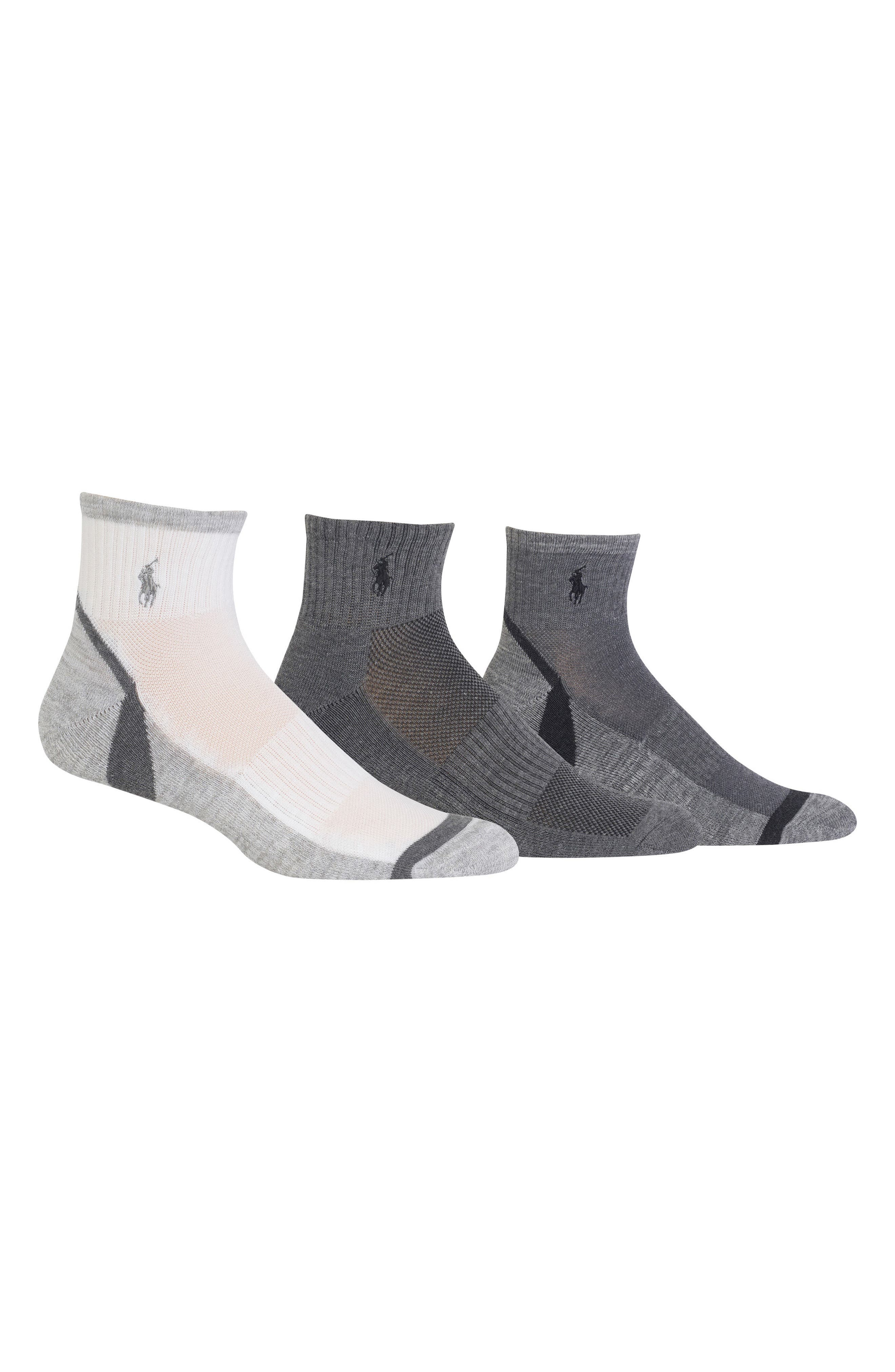 3-Pack Athletic Socks,                             Main thumbnail 1, color,