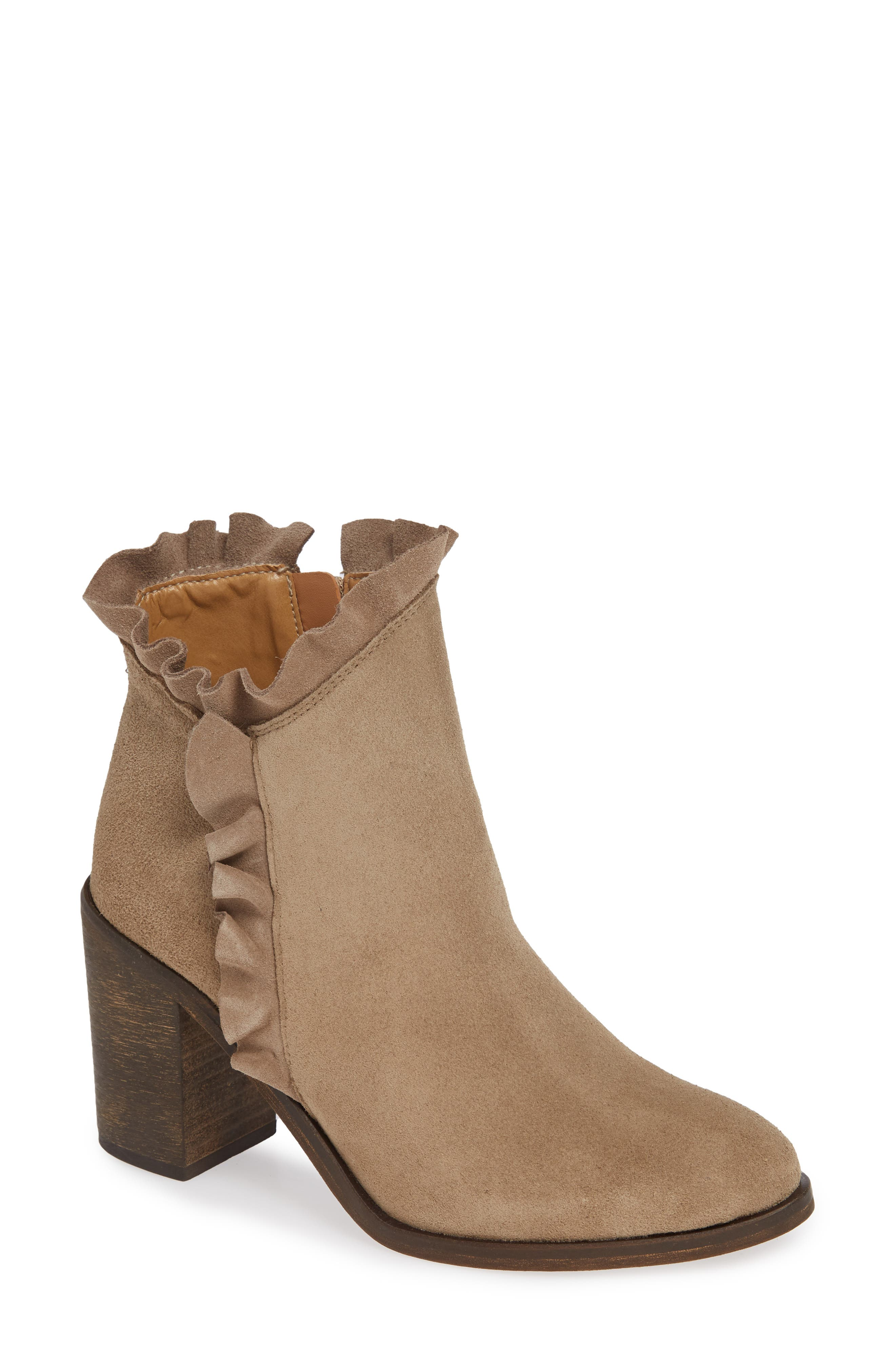 Bellamy Bootie,                             Main thumbnail 1, color,                             TAUPE SUEDE