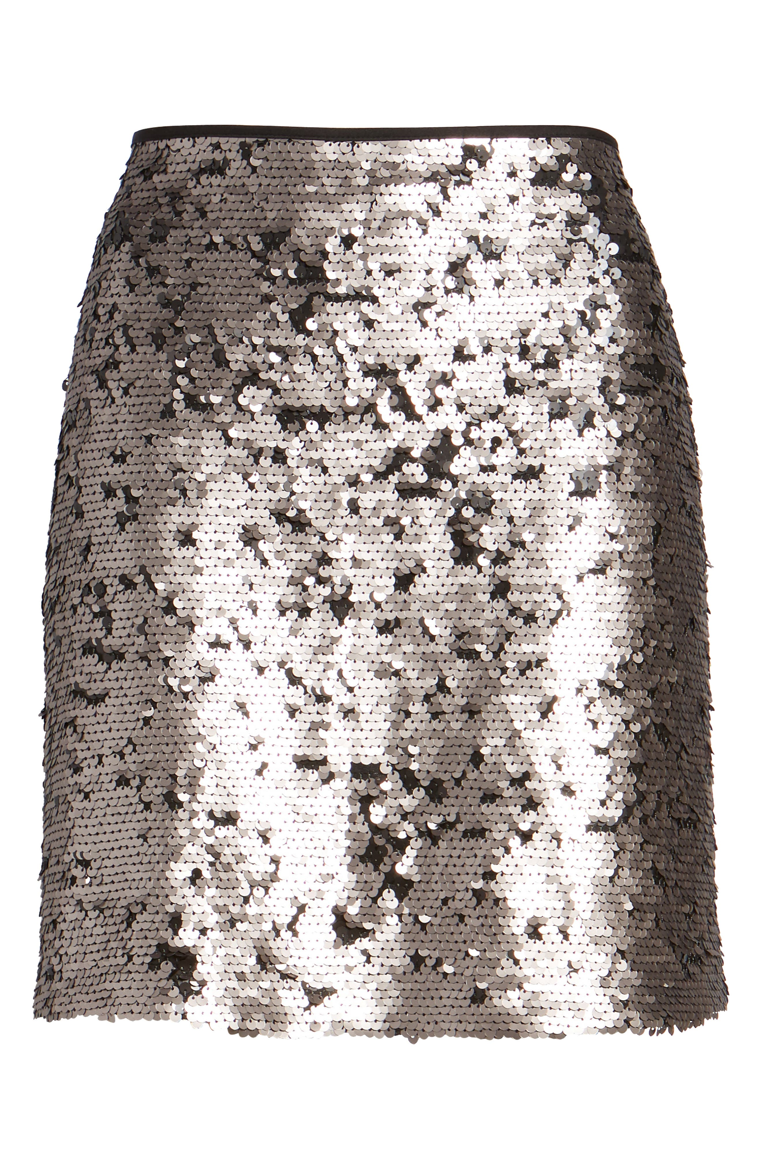Sequin Miniskirt,                             Alternate thumbnail 8, color,