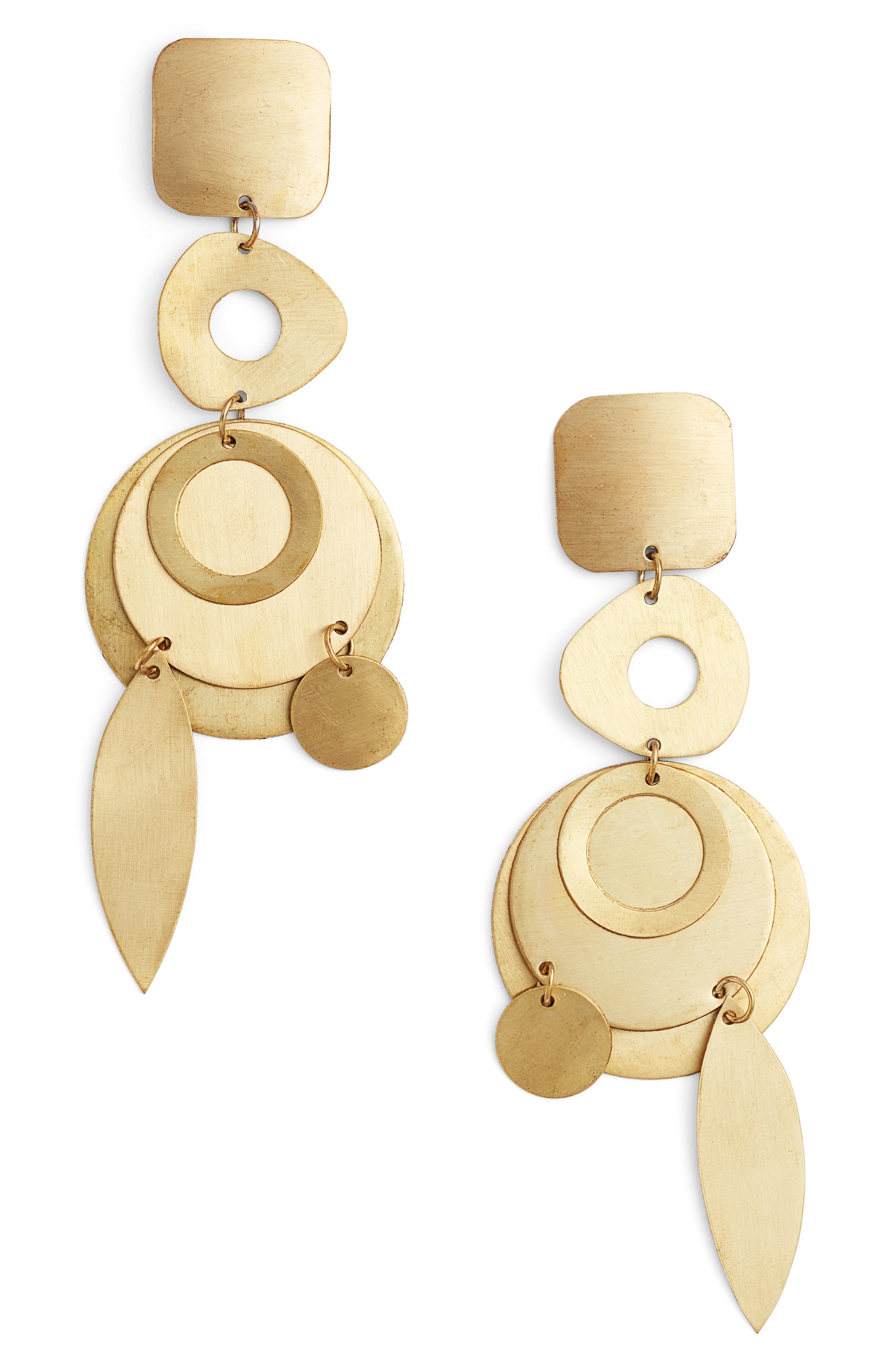 Derby Drop Earrings,                         Main,                         color, GOLD