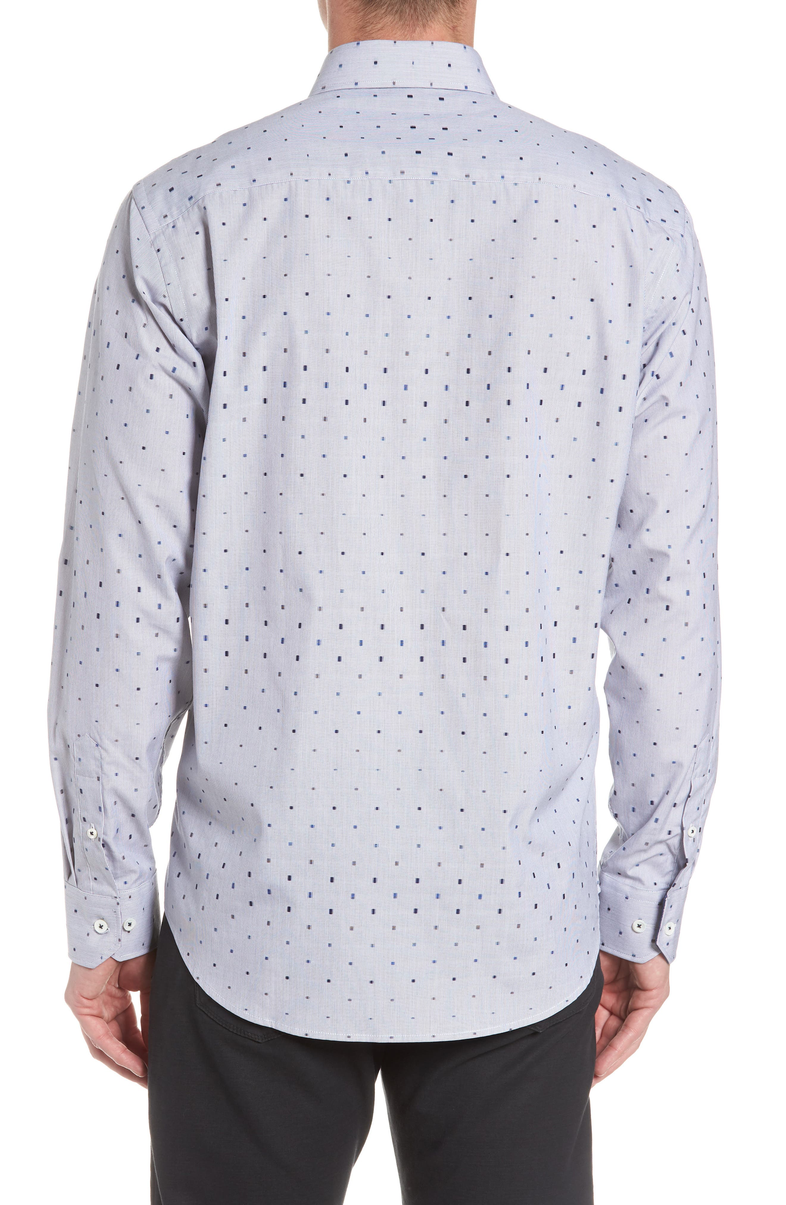 Classic Fit Print Sport Shirt,                             Alternate thumbnail 3, color,                             411