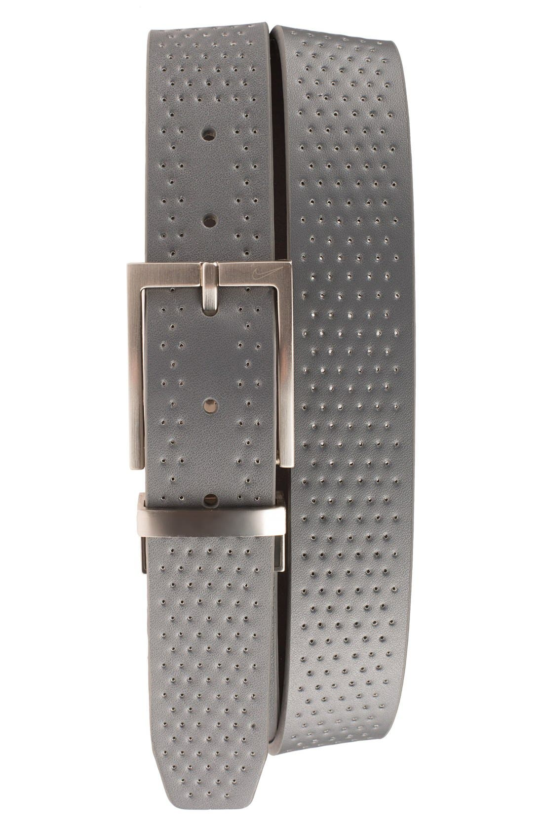 Reversible Leather Belt,                             Main thumbnail 2, color,