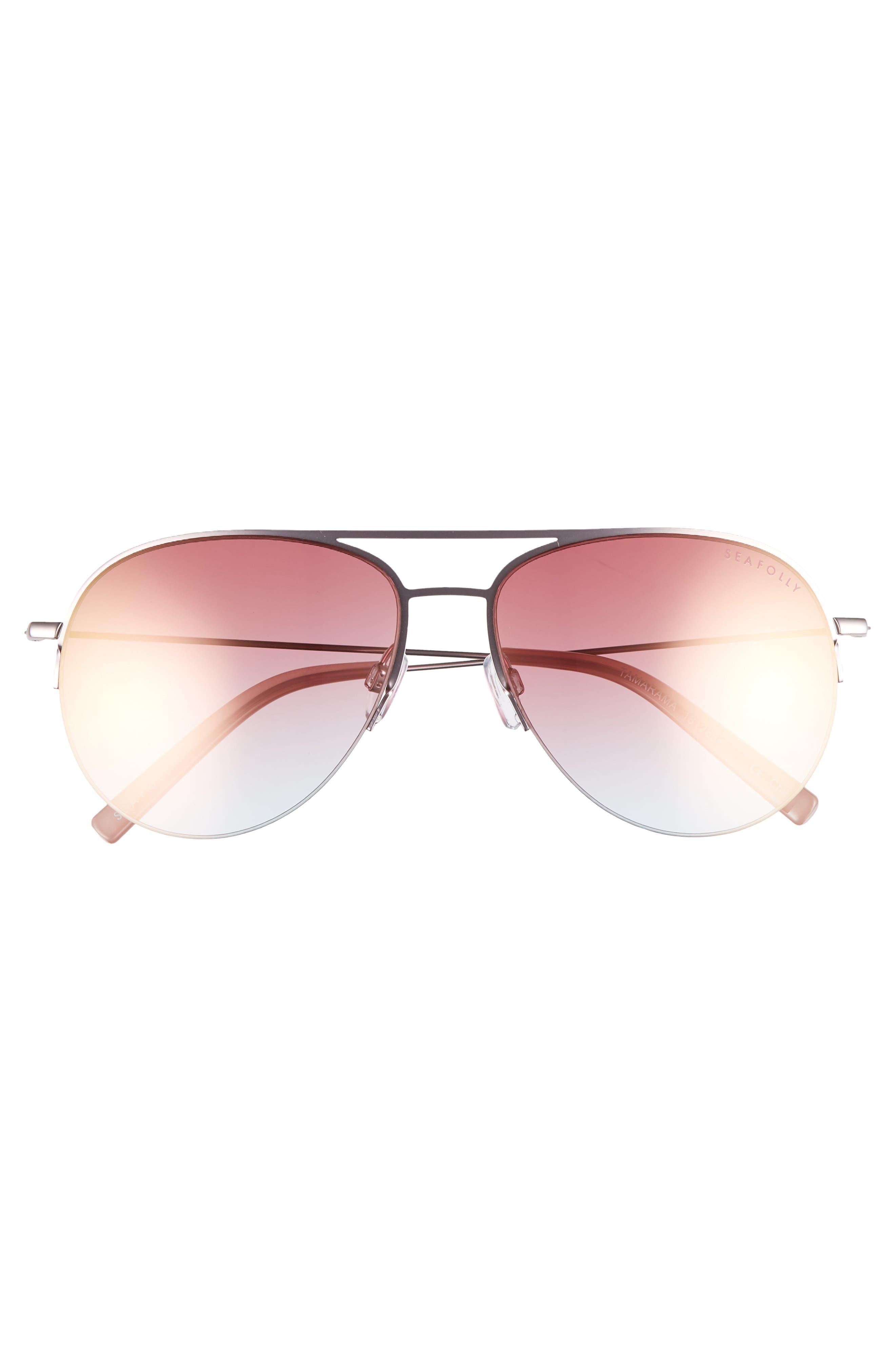 Tamarama 60mm Aviator Sunglasses,                             Alternate thumbnail 3, color,                             612