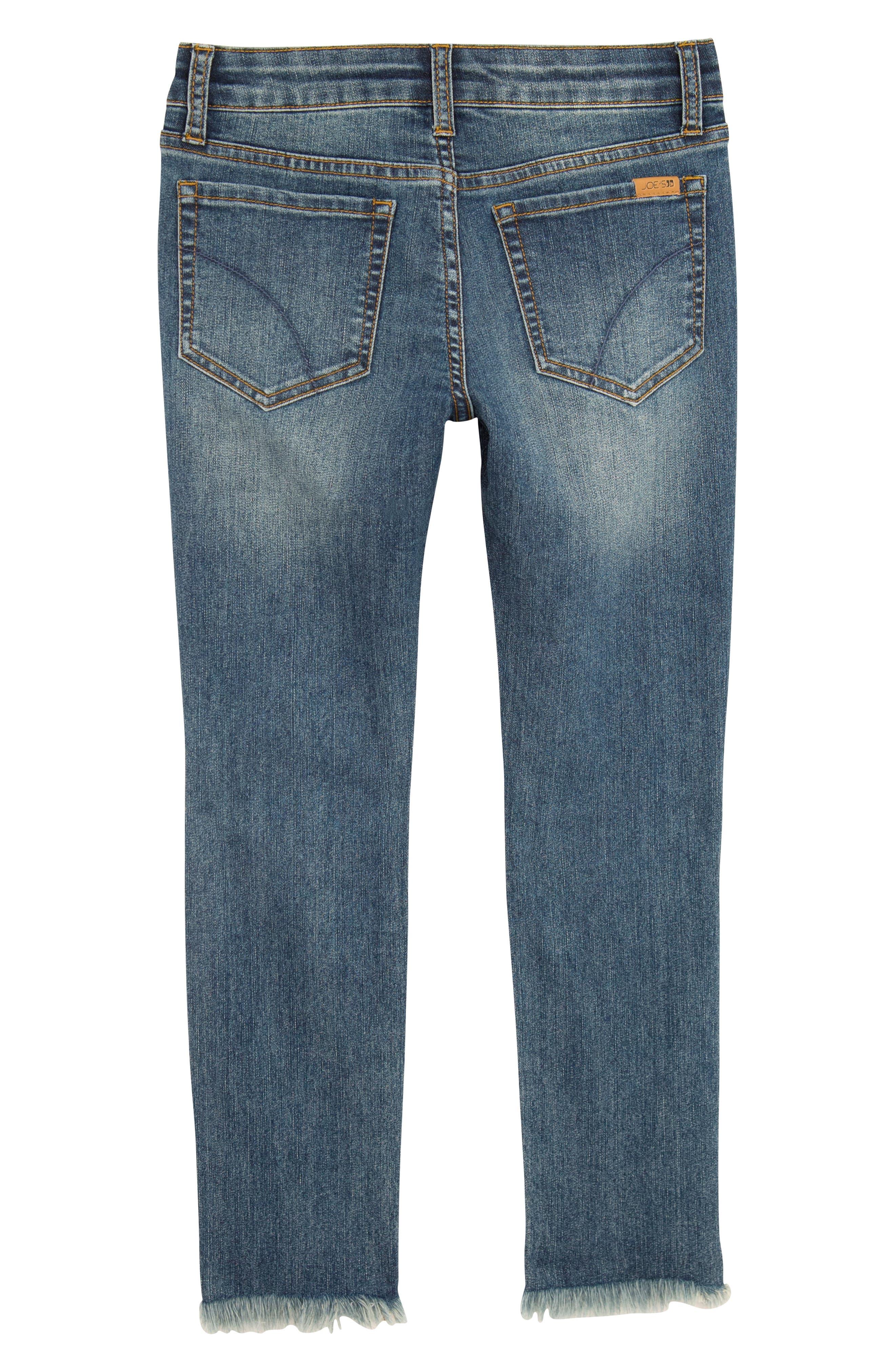 The Markie Angled Fray Skinny Jeans,                             Alternate thumbnail 2, color,                             MEDIUM VINTAGE