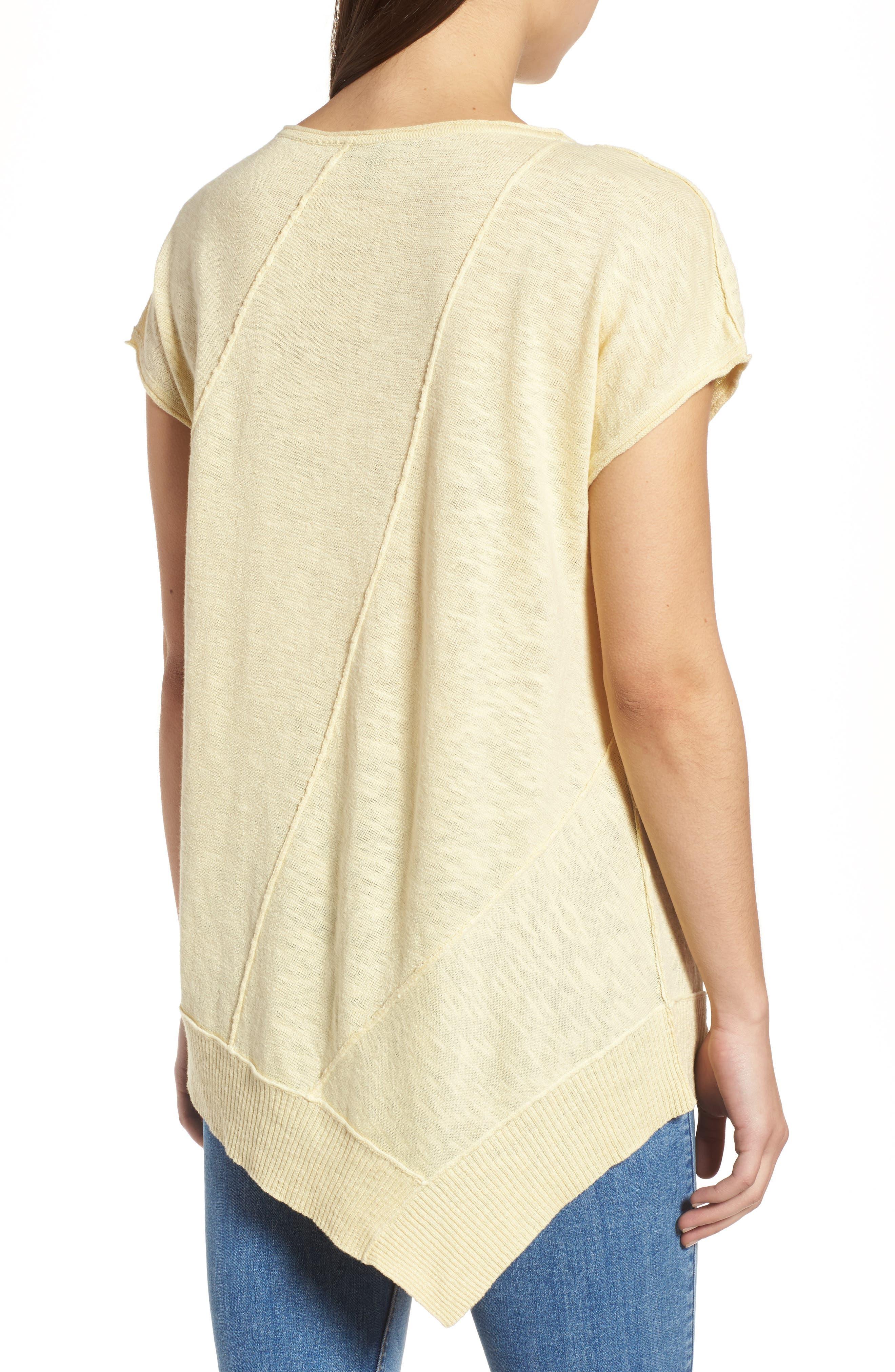Cap Sleeve Organic Linen & Cotton Scoop Neck Top,                             Alternate thumbnail 22, color,