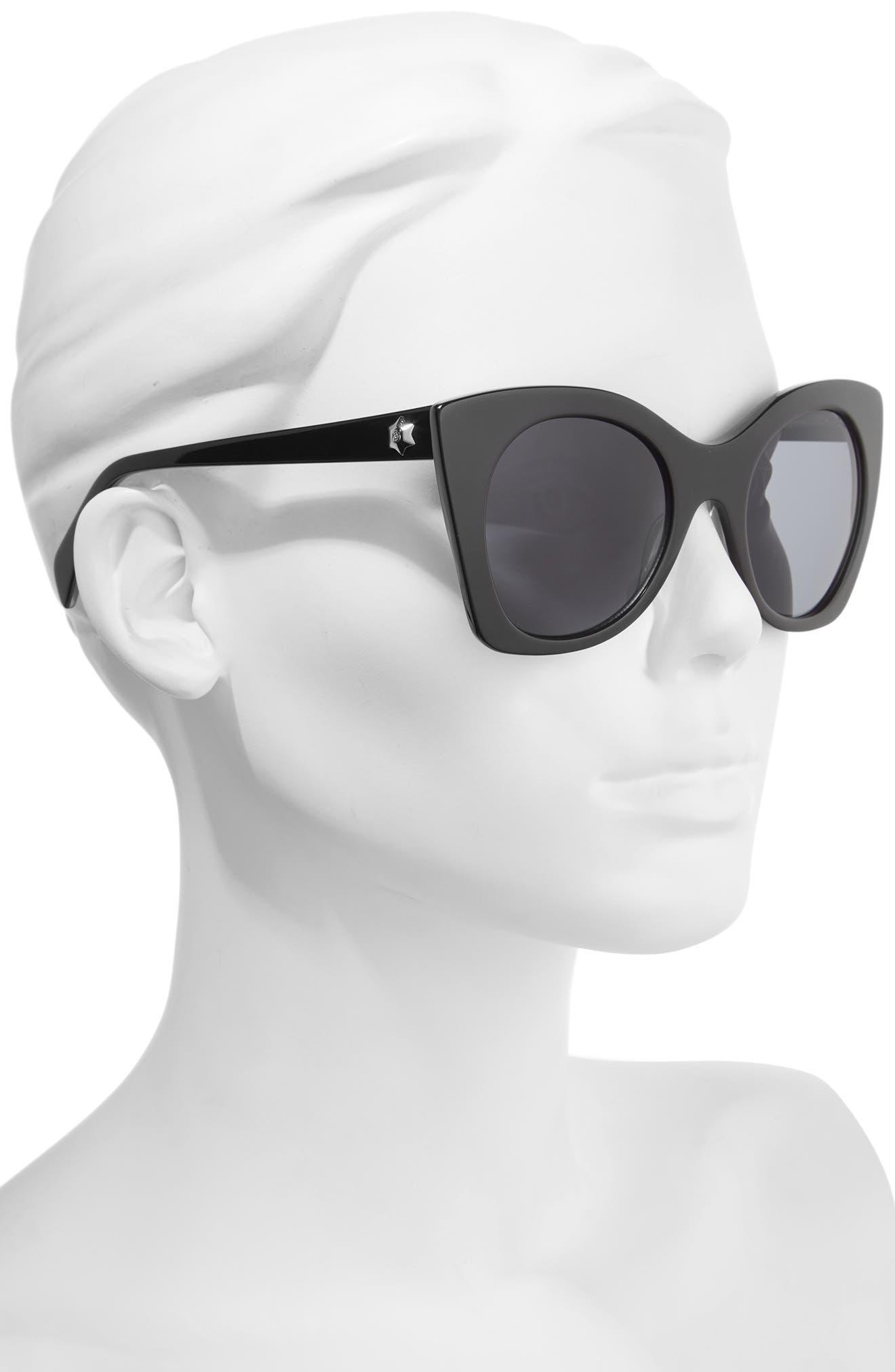 DRAPER JAMES,                             51mm Geometric Sunglasses,                             Alternate thumbnail 2, color,                             001