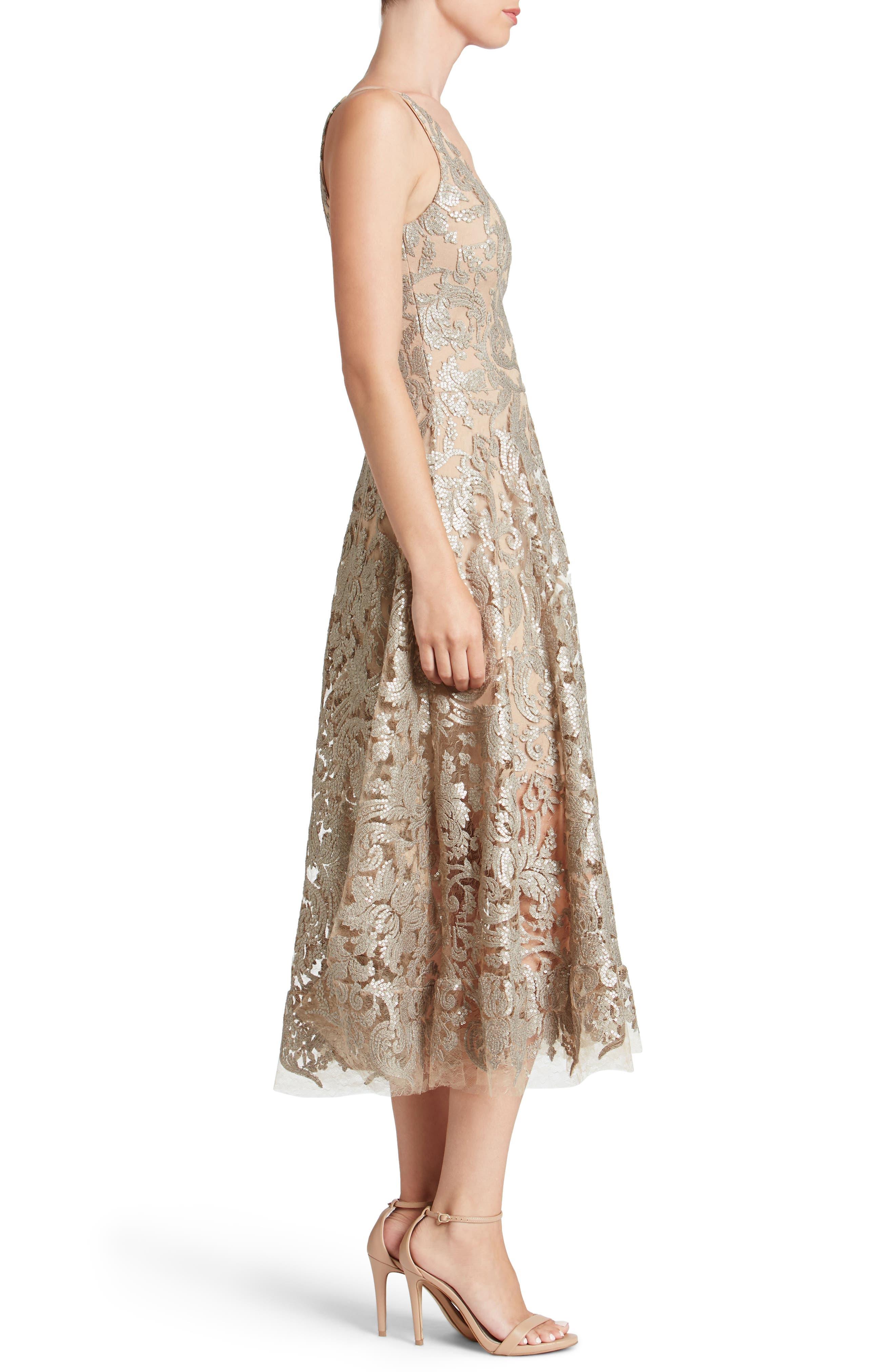 Blair Embellished Fit & Flare Dress,                             Alternate thumbnail 16, color,